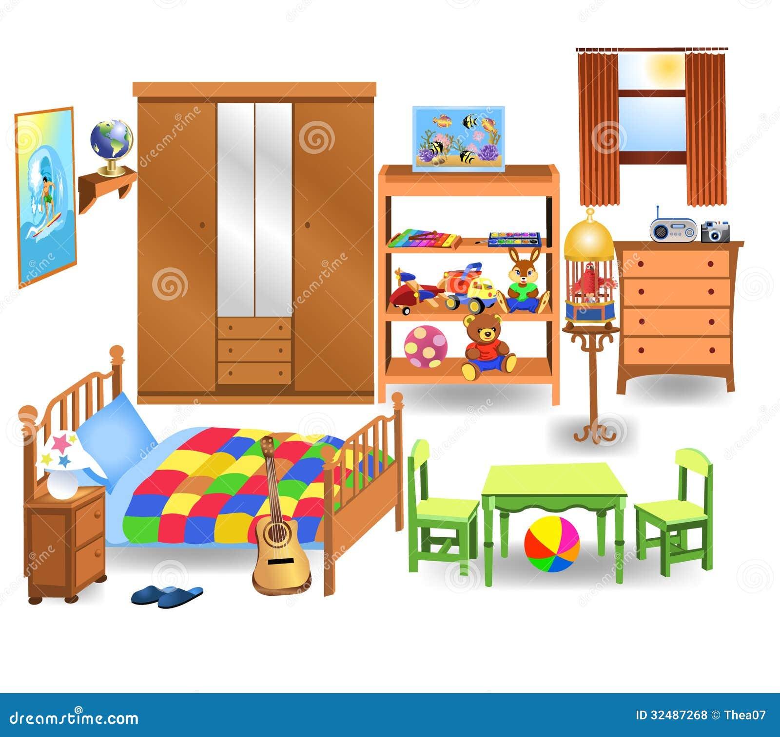 Image of: Muebles Del Dormitorio Ilustracion Del Vector Ilustracion De Casa 32487268