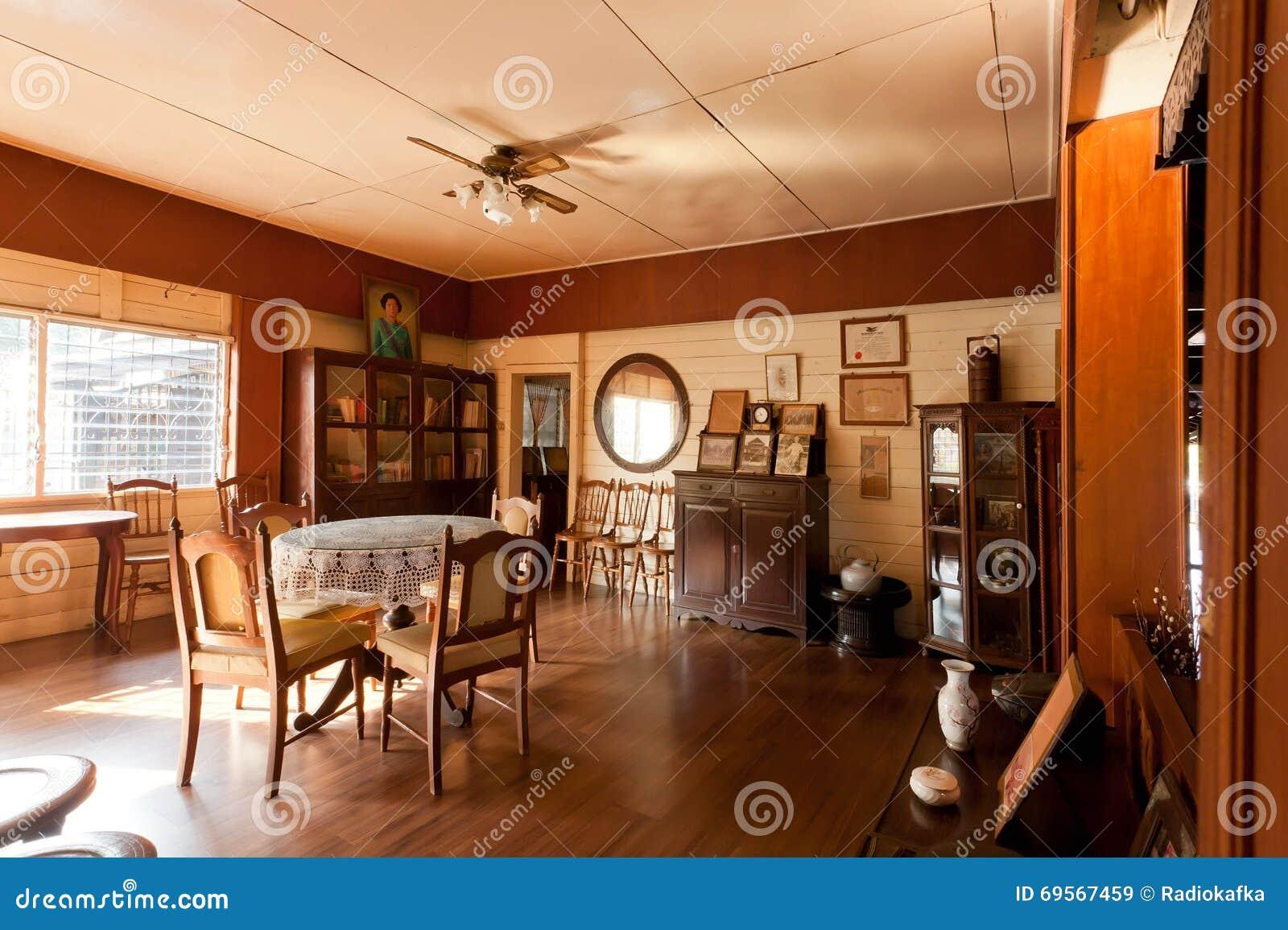 Muebles Del Vintage Dentro De Nak Del Sao De Baan Mansi N Del  # Muebles Teca Interior