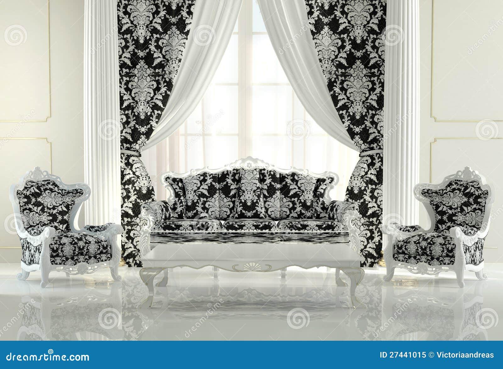 Muebles modernos en dise o barroco foto de archivo libre - Muebles estilo barroco moderno ...