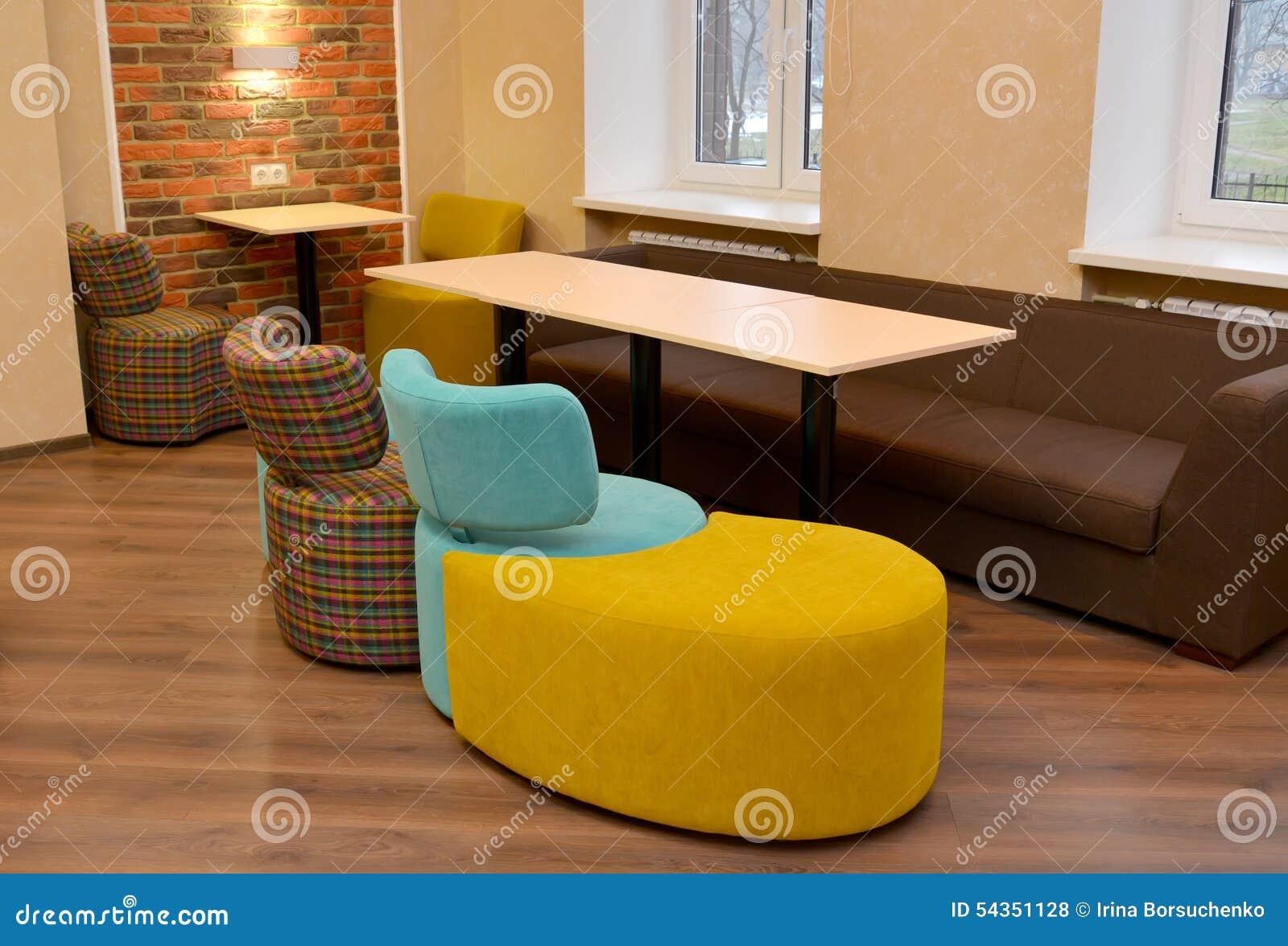 Muebles Modulares Tapizados En Sitio De La Oficina Foto De Archivo  # Muebles Modulares