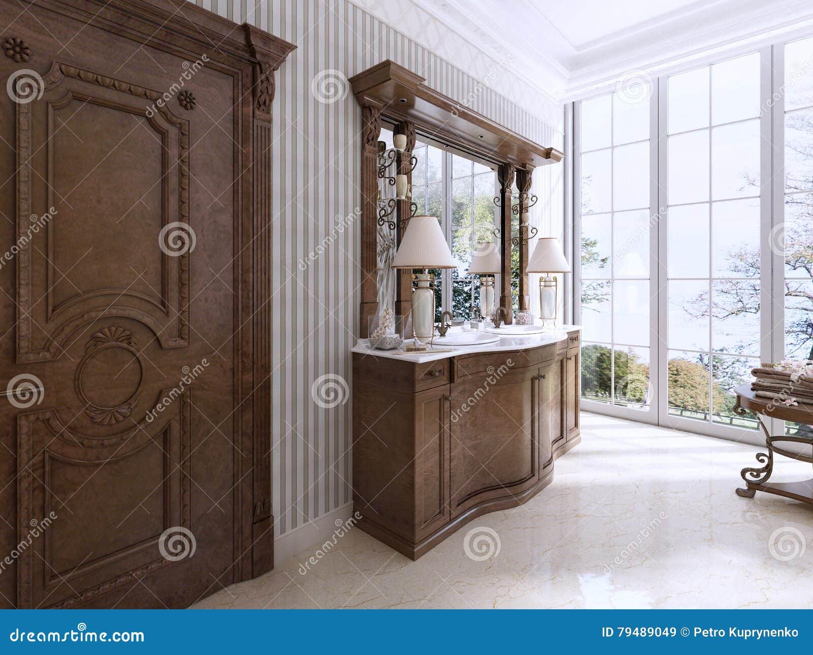 Muebles Neocl Sicos De Lujo En Estilo Moderno En El Cuarto De Ba O  # Muebles Neoclasicos Modernos