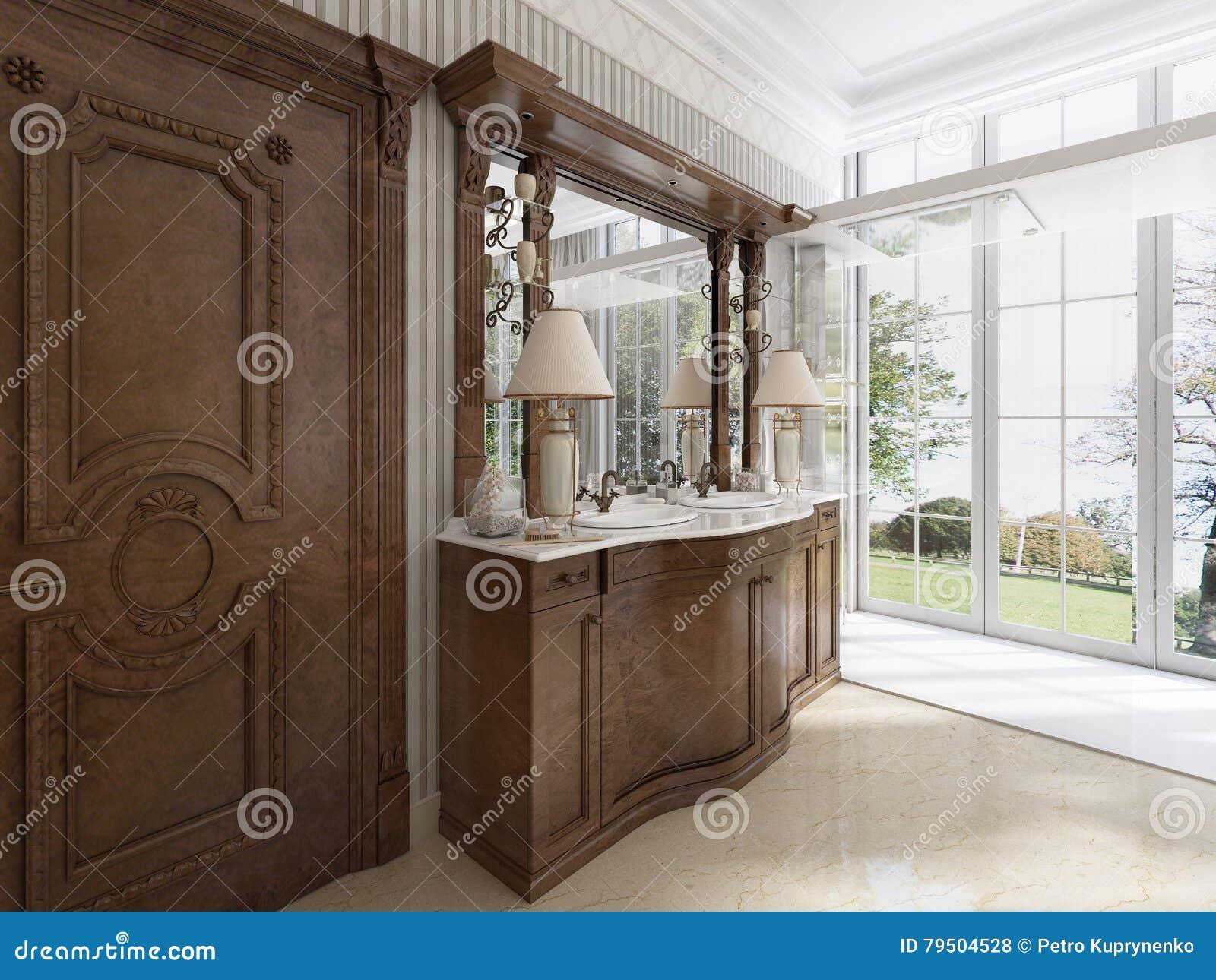 Muebles Neocl Sicos De Lujo En Estilo Moderno En El Cuarto De Ba O  # Muebles Neoclasicos