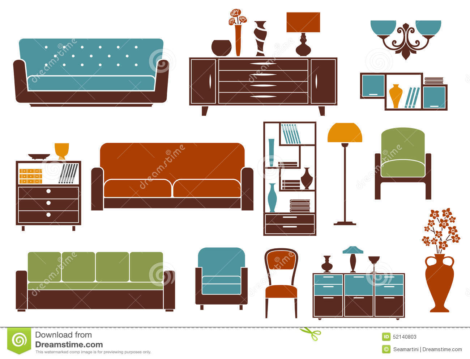 Muebles vectorizados para planos obtenga ideas dise o de - Muebles para apartamentos ...