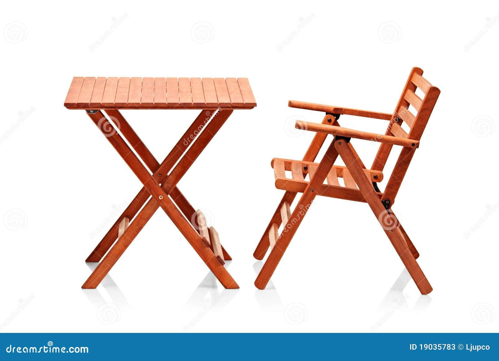 Muebles Plegables De Madera De La Playa Imagen De Archivo Imagen  # Muebles Plegables
