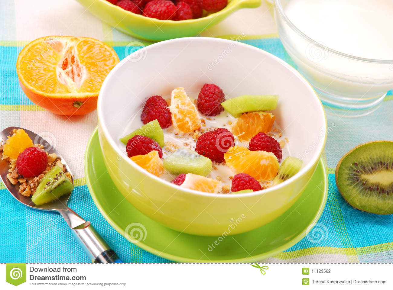 Download Muesli With Fresh Fruits As Diet Food Stock Photo - Image of meal, drink: 11123562