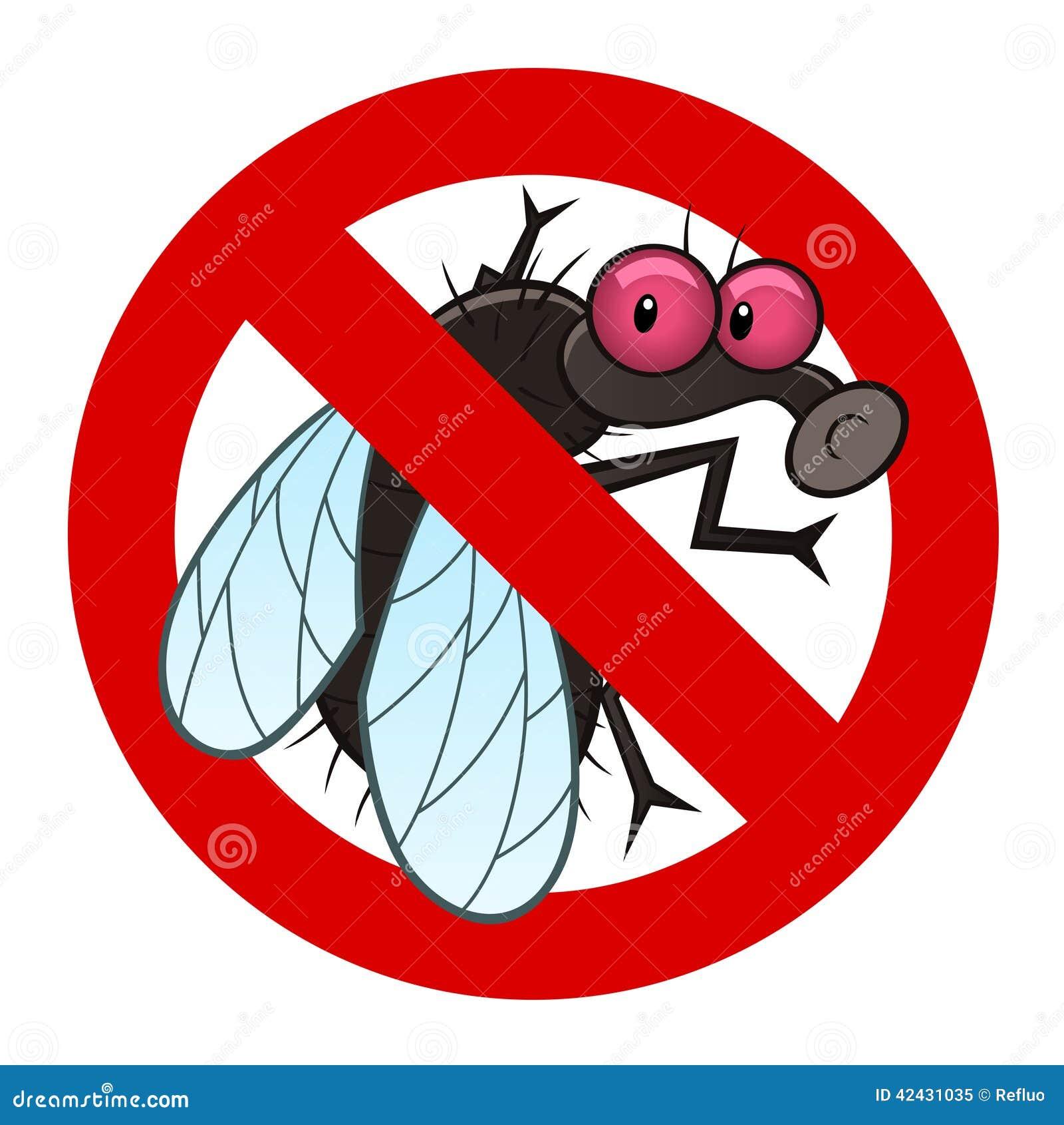 Muestra anti de la mosca