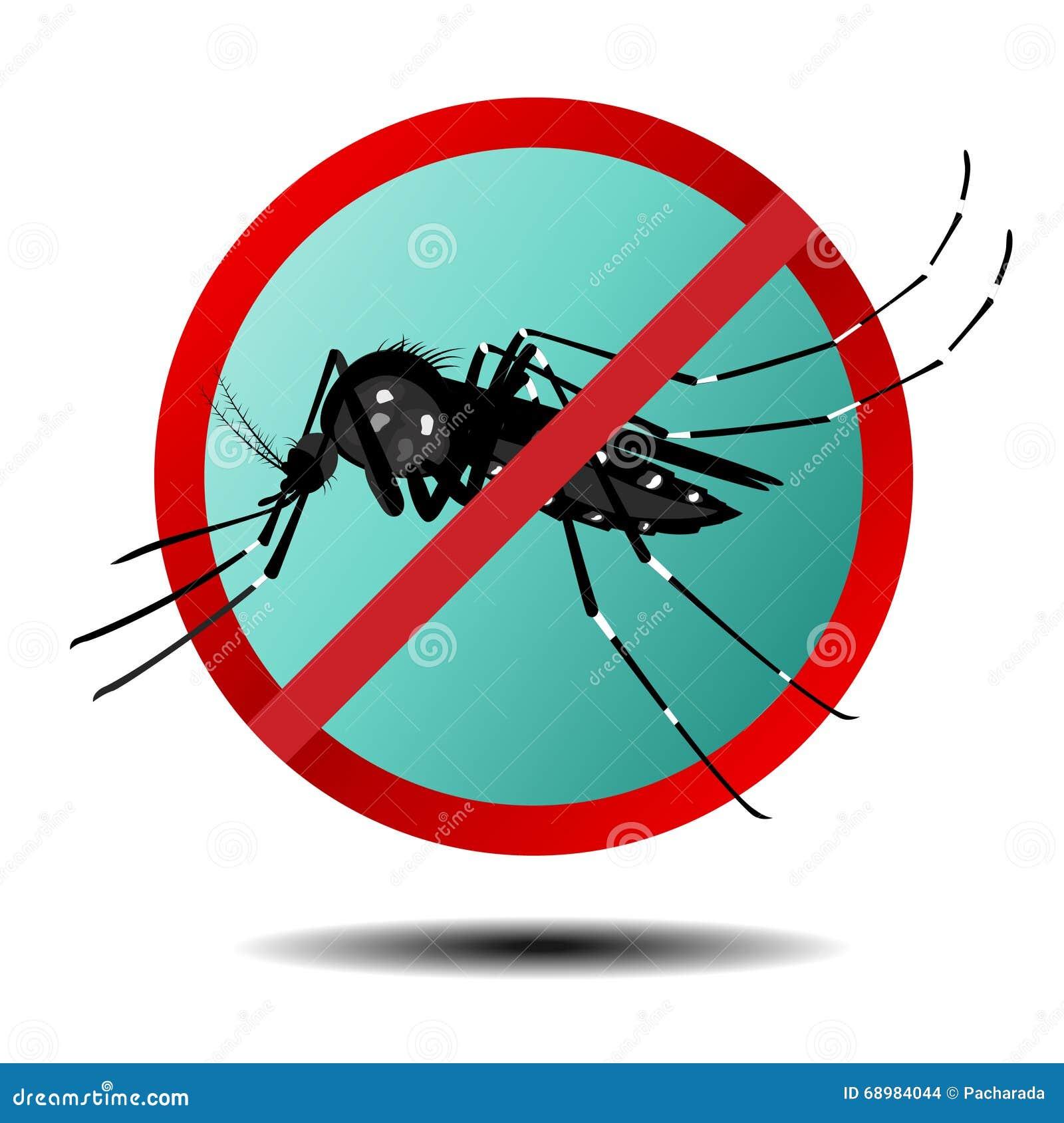Muestra anti del mosquito, icono plano