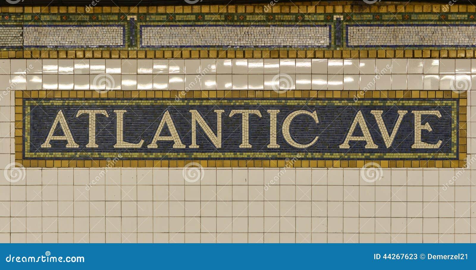 Muestra atlántica del subterráneo de la avenida, Brooklyn, Nueva York