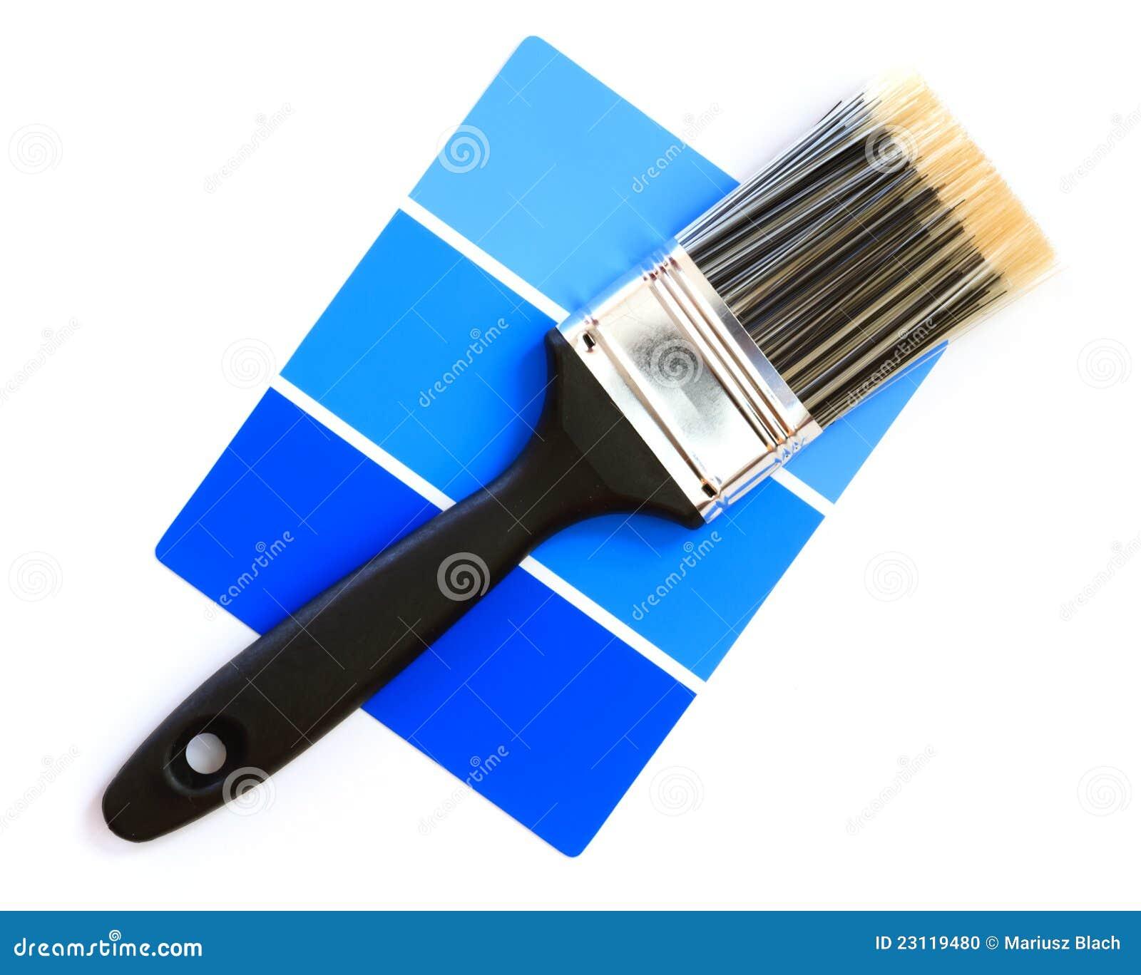 Muestra azul del color