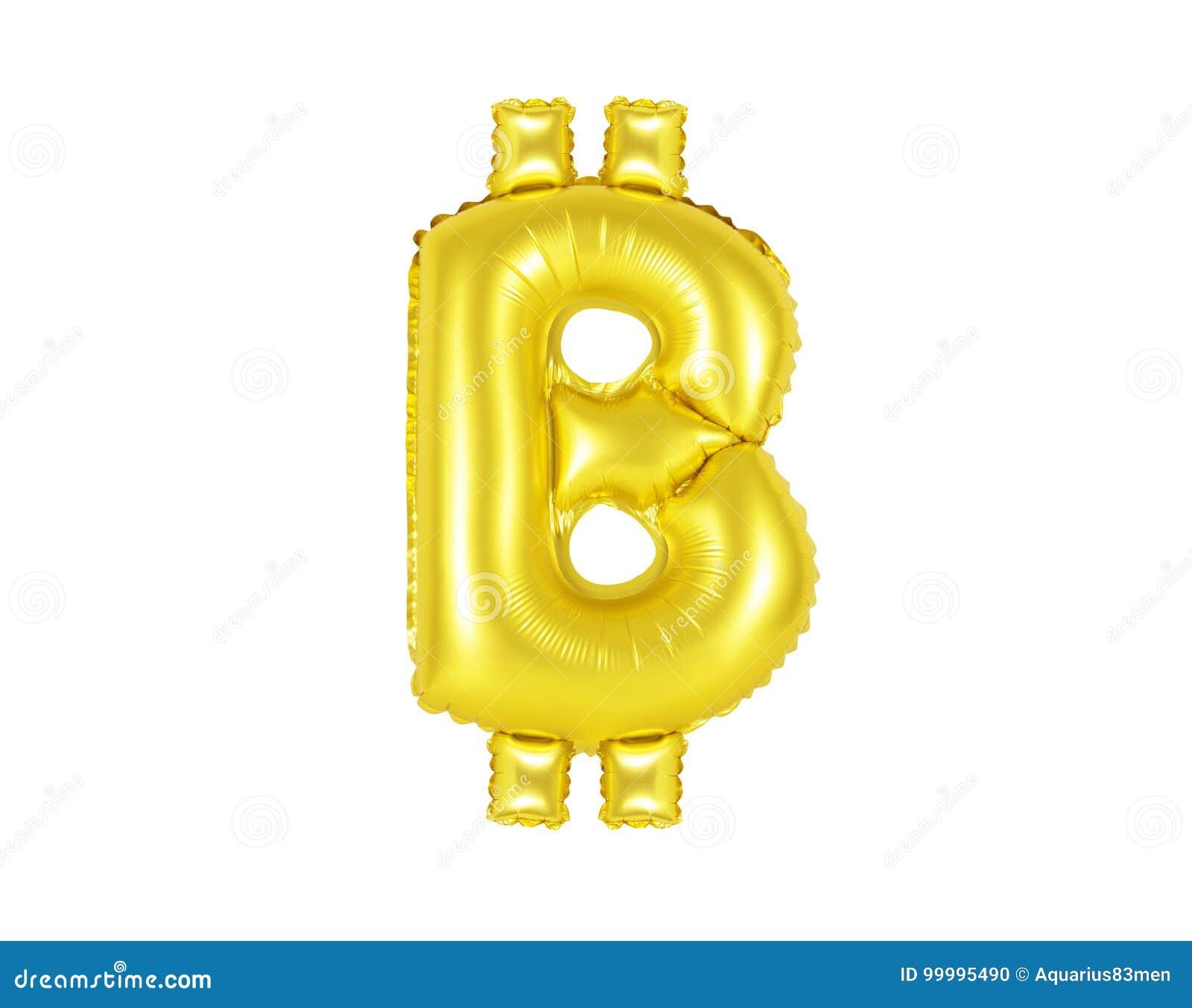 Muestra de Bitcoin, color oro