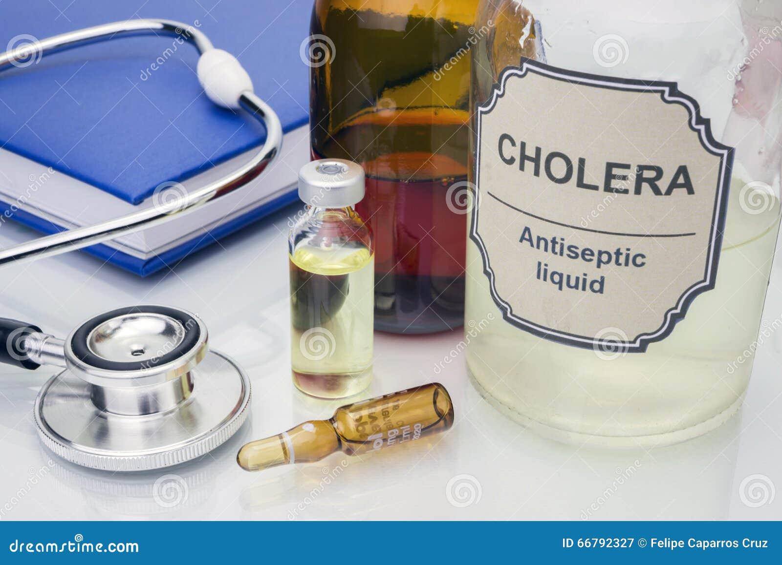 Muestra de cólera en laboratorio