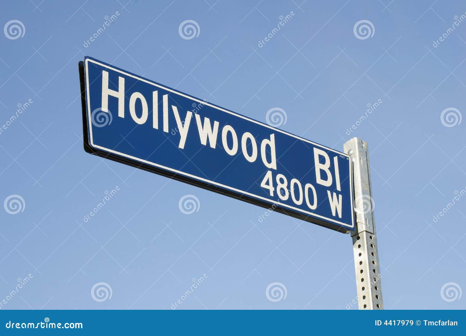 Muestra de calle del bulevar de Hollywood