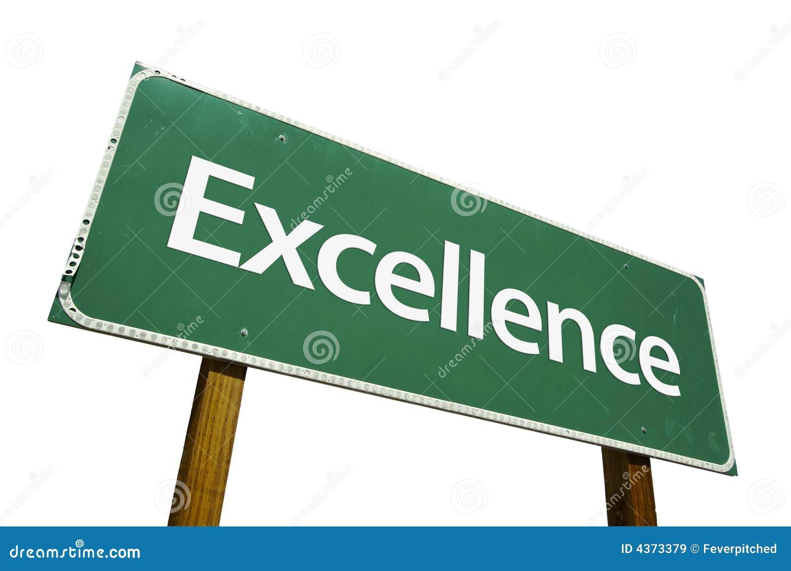 Muestra de camino de la excelencia