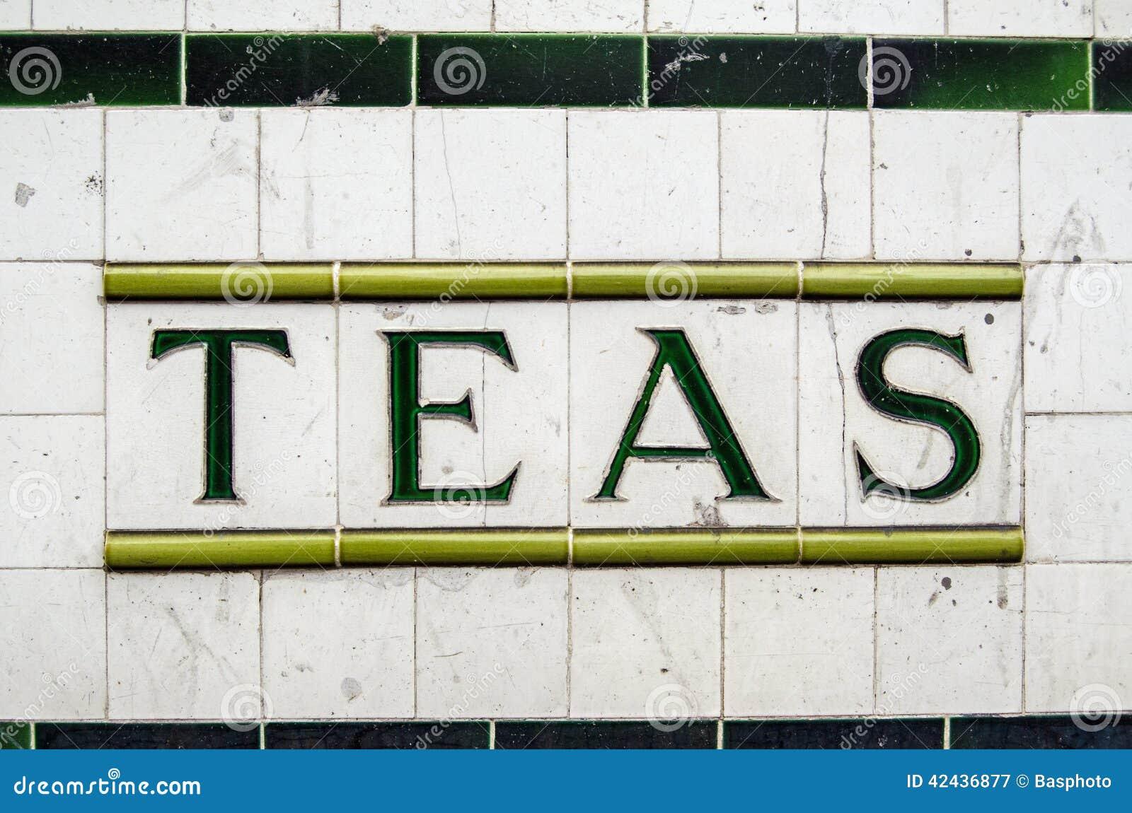 Muestra de cerámica de los tés