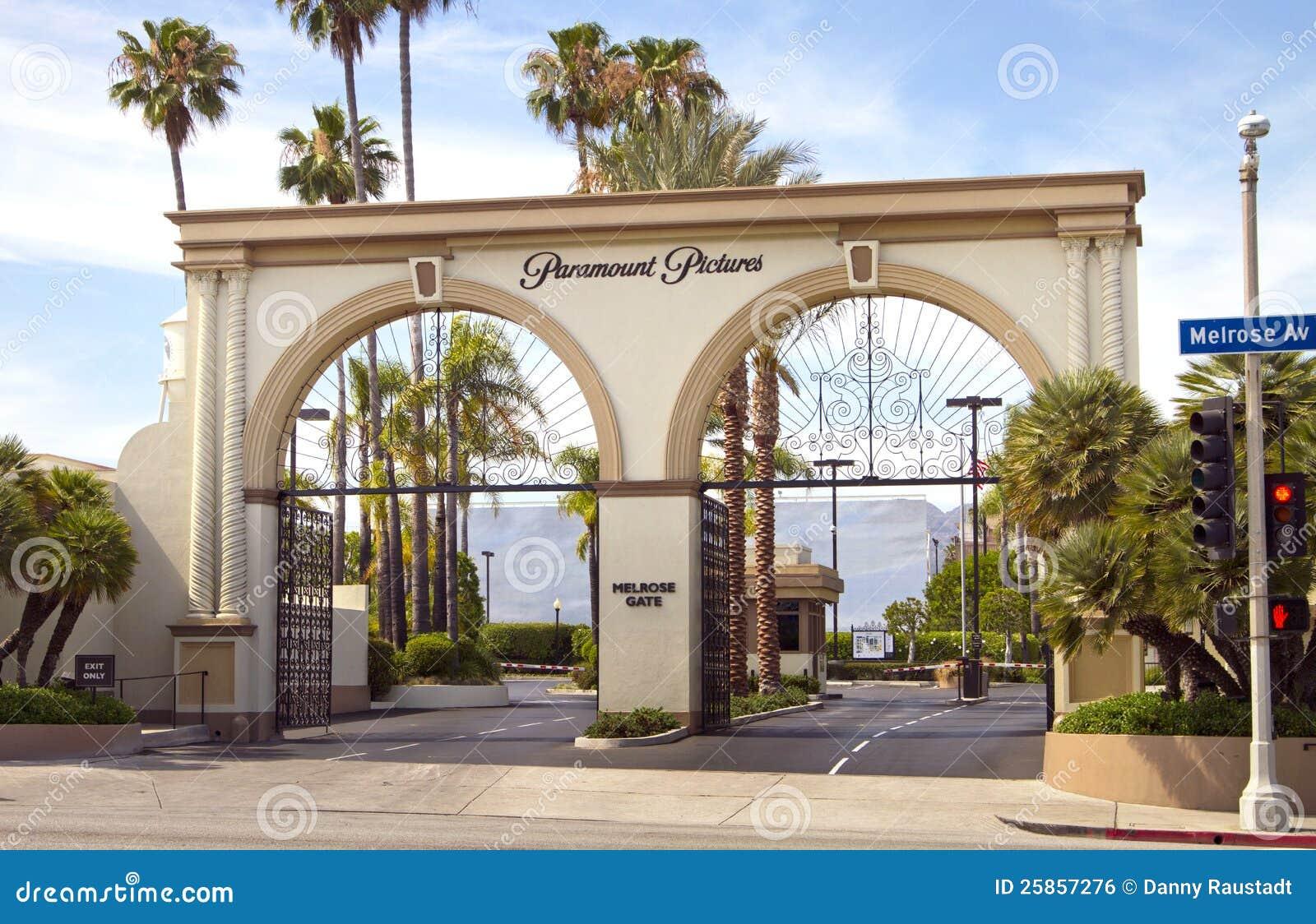 Muestra de la entrada del estudio de la película de Paramount Pictures