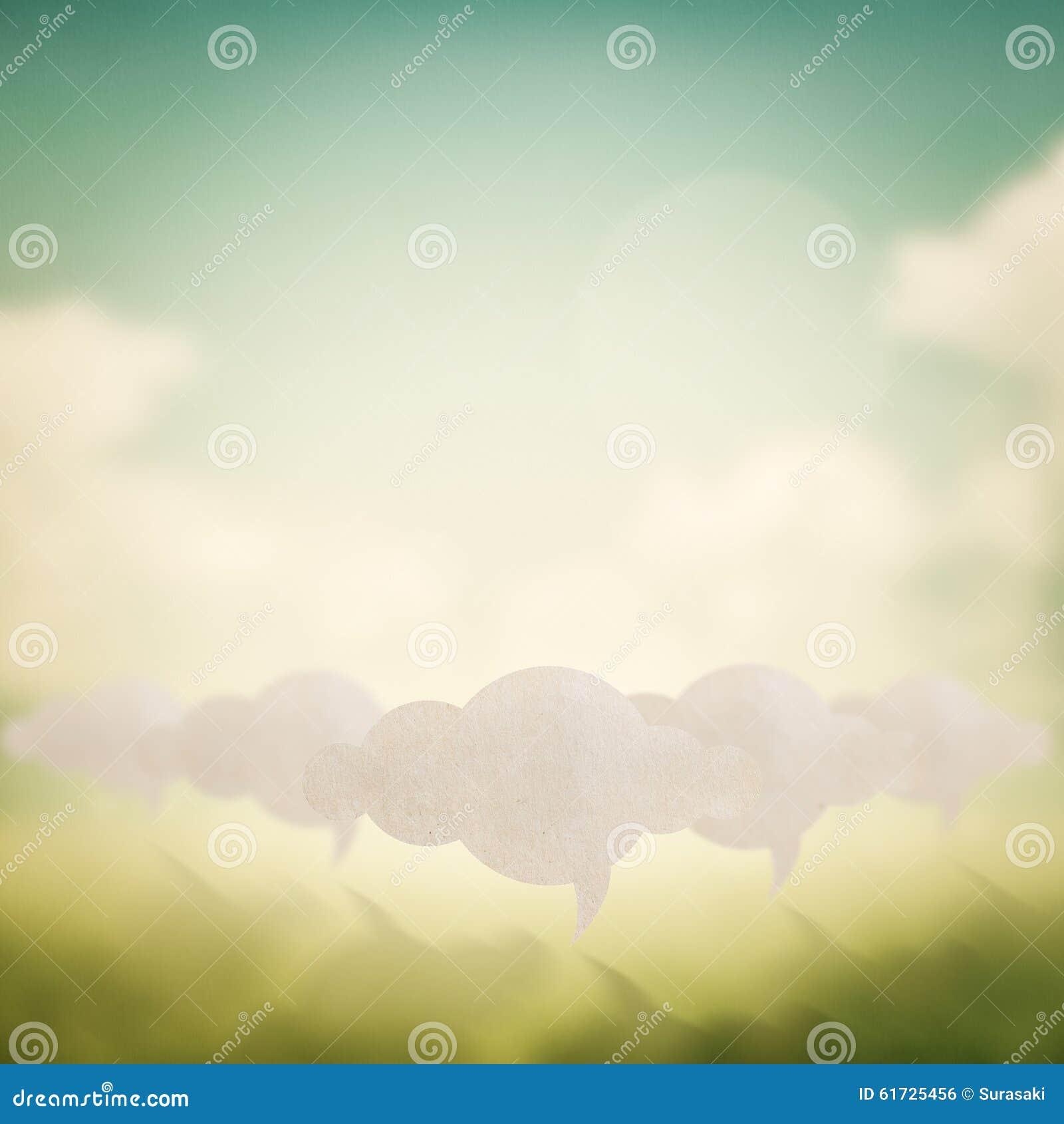 Muestra de la nube en fondo borroso extracto de la naturaleza