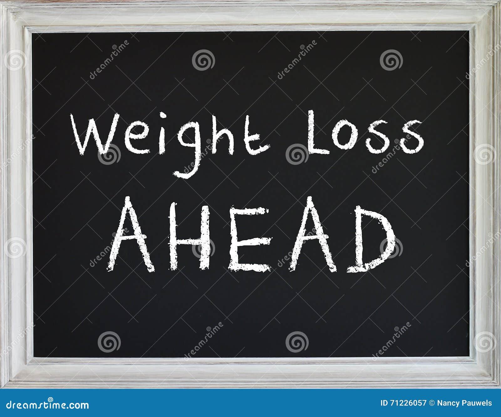 Muestra de la pérdida de peso en el tablero de tiza negro