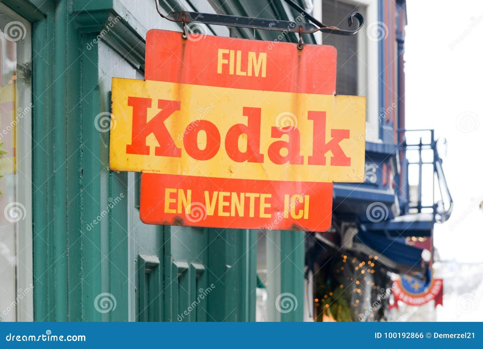 Muestra de la película de Kodak