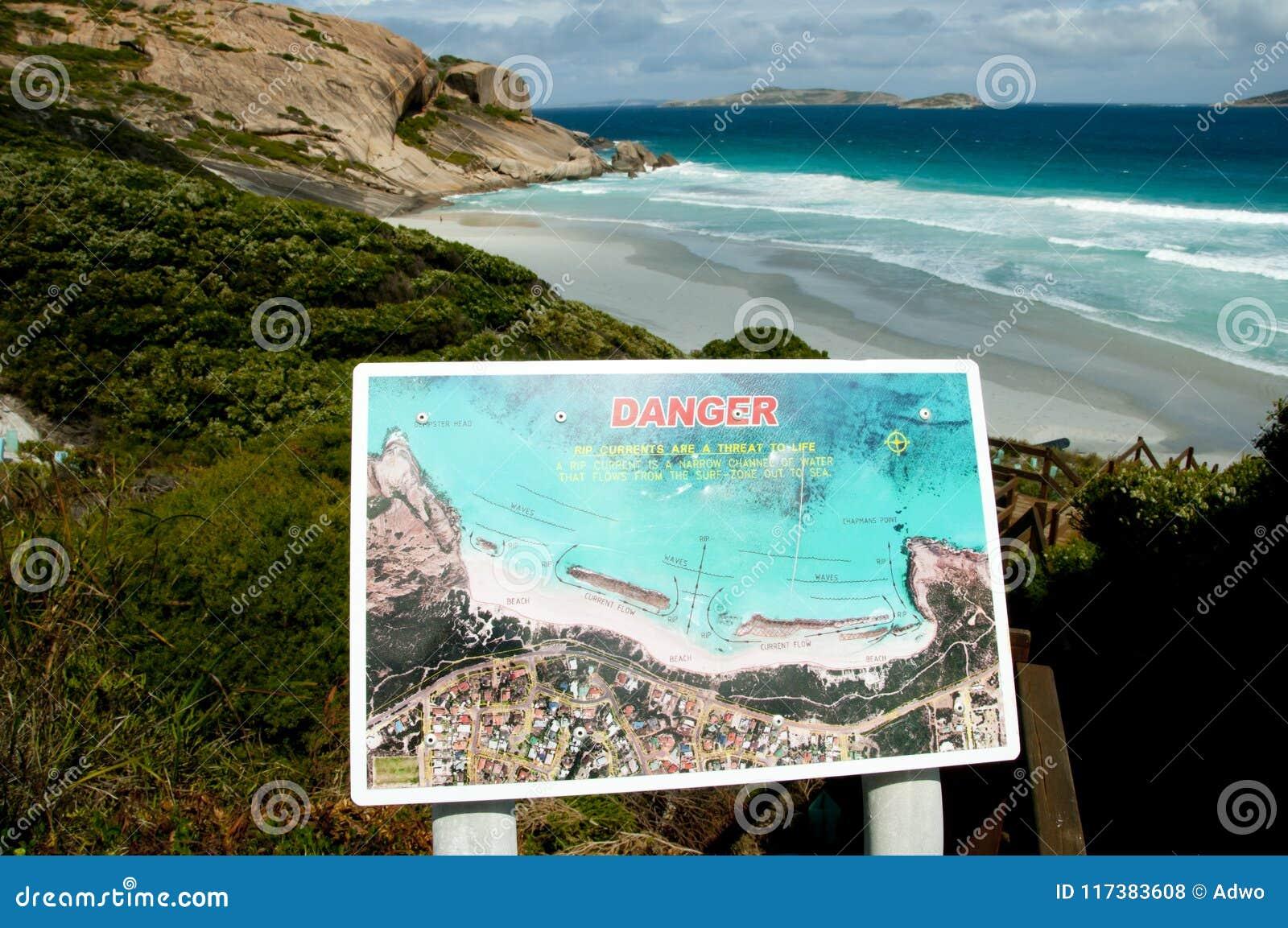 Muestra de la playa de la corriente de rasgón