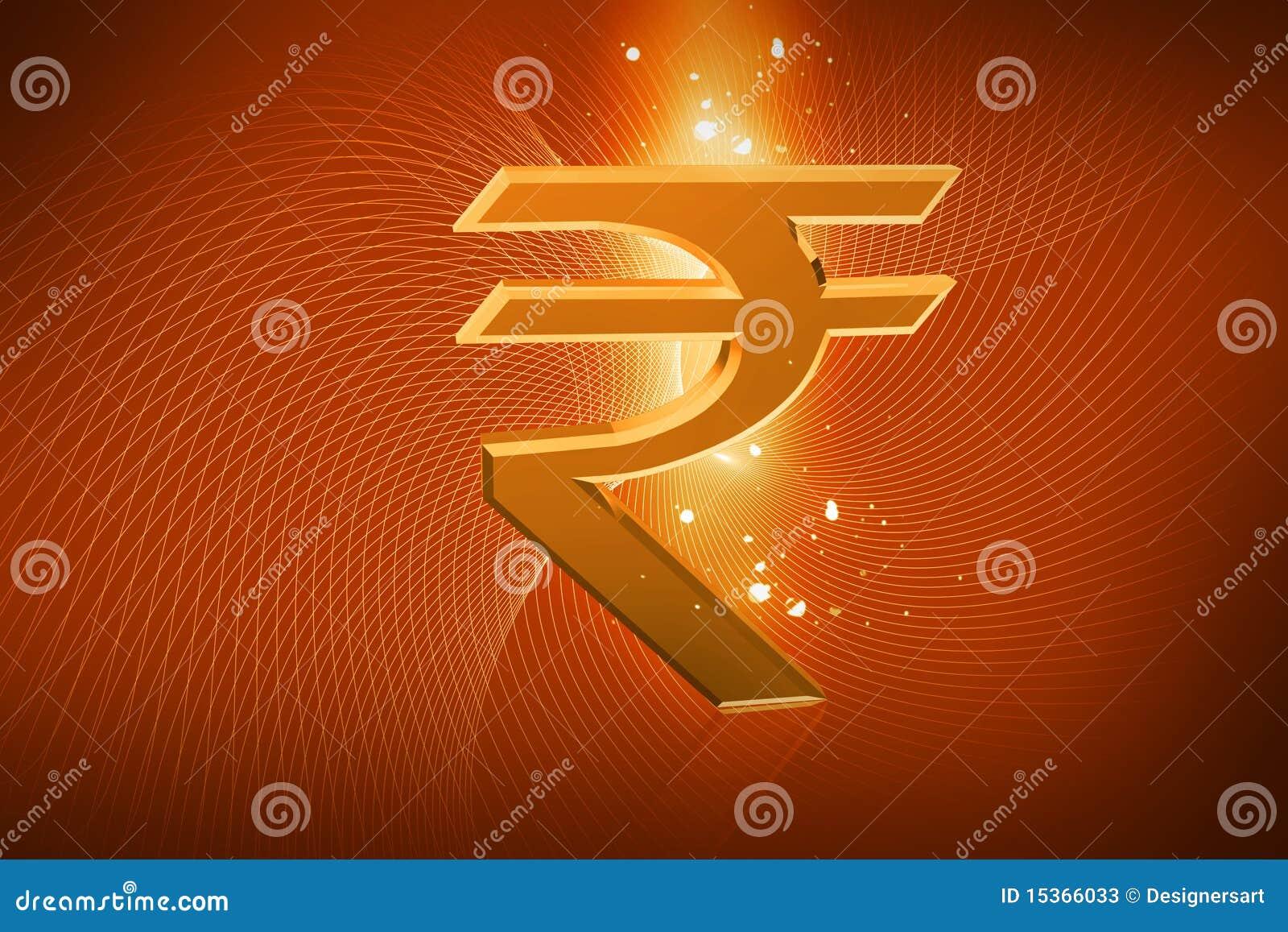 Muestra de la rupia india
