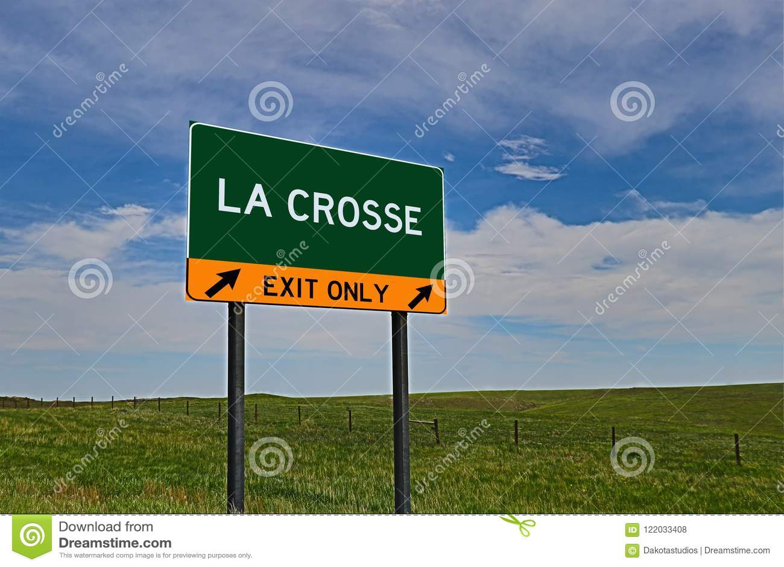 Muestra de la salida de la carretera de los E.E.U.U. para el La Crosse