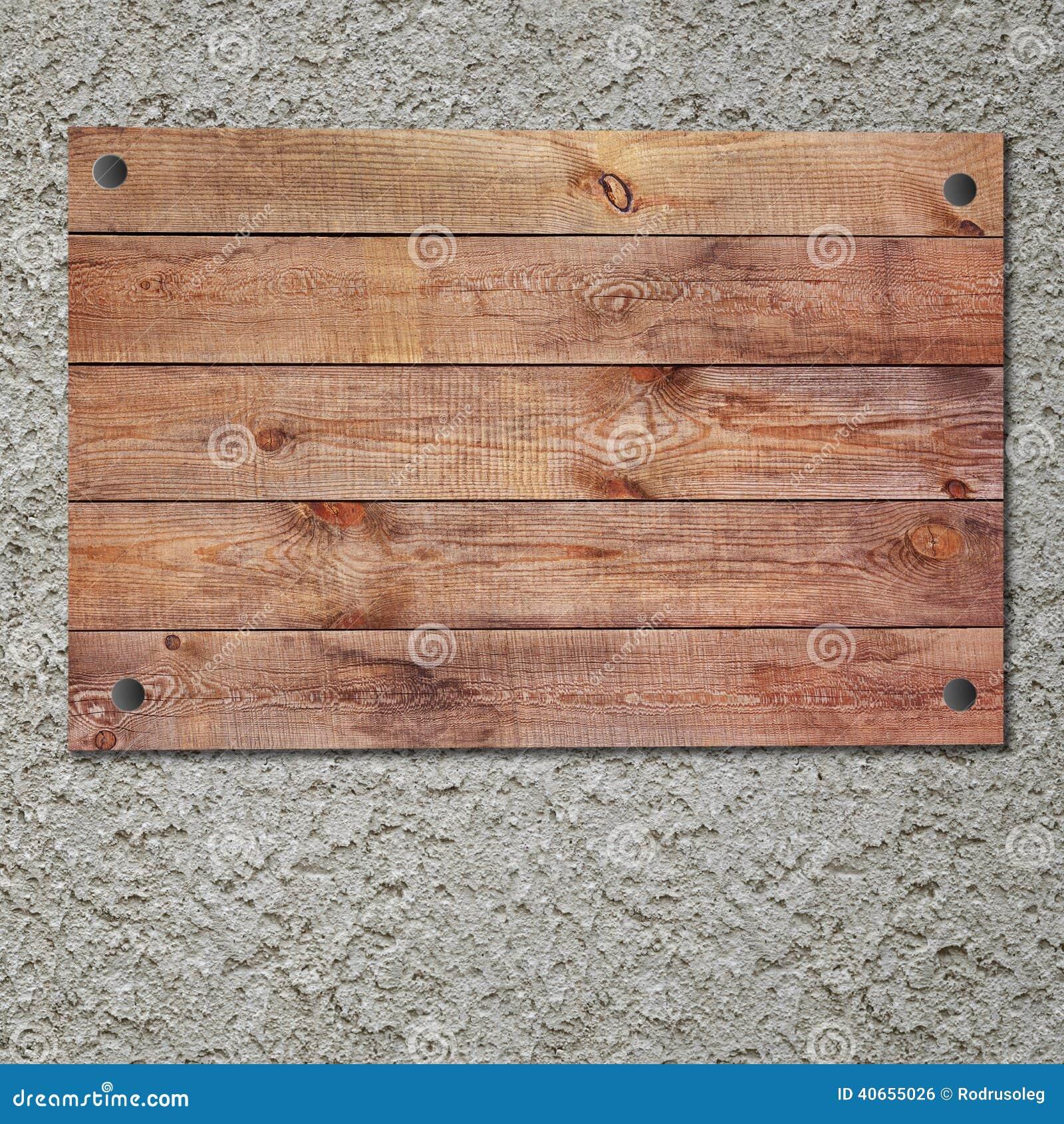 Muestra de madera del vintage en el muro de cemento del - Muro de madera ...