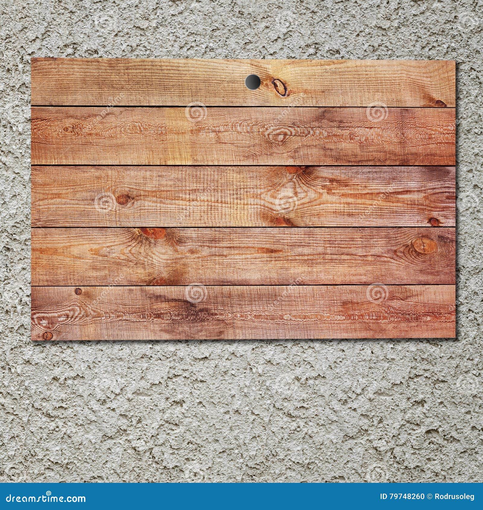Muestra de madera del vintage en el muro de cemento del estuco