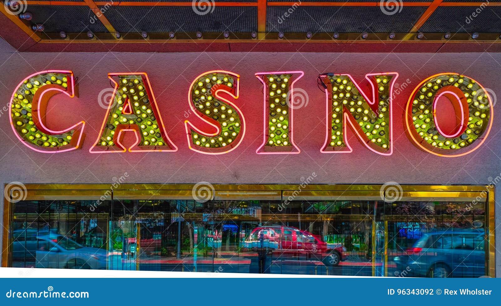 Muestra de neón del casino