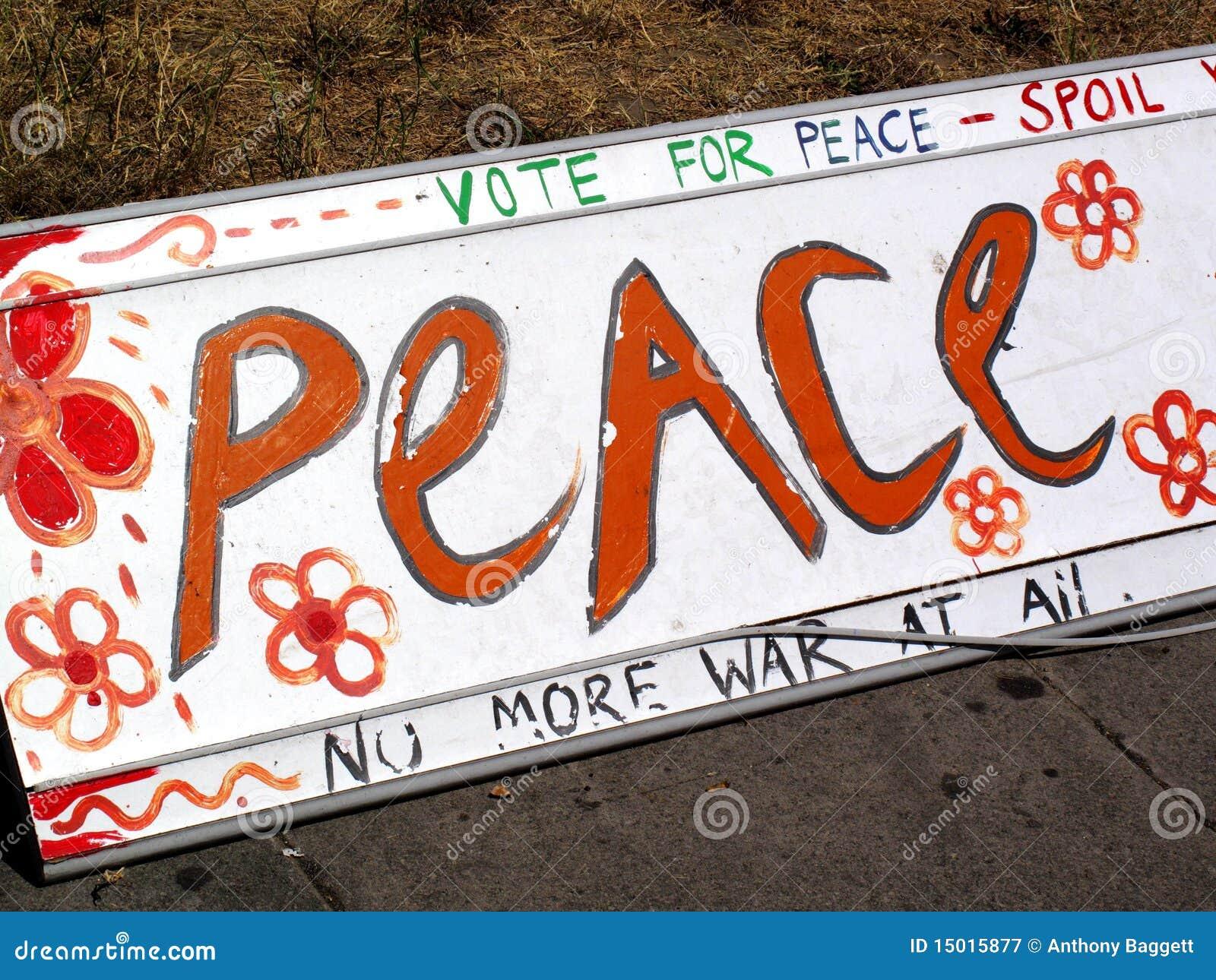 Muestra de paz pacifista