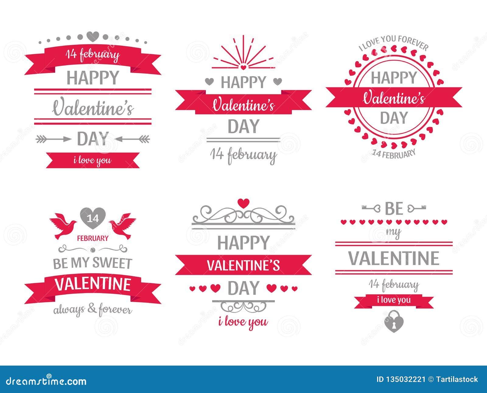 Muestra del día de tarjetas del día de San Valentín Tarjeta de la tarjeta del día de San Valentín del vintage, etiquetas retras d