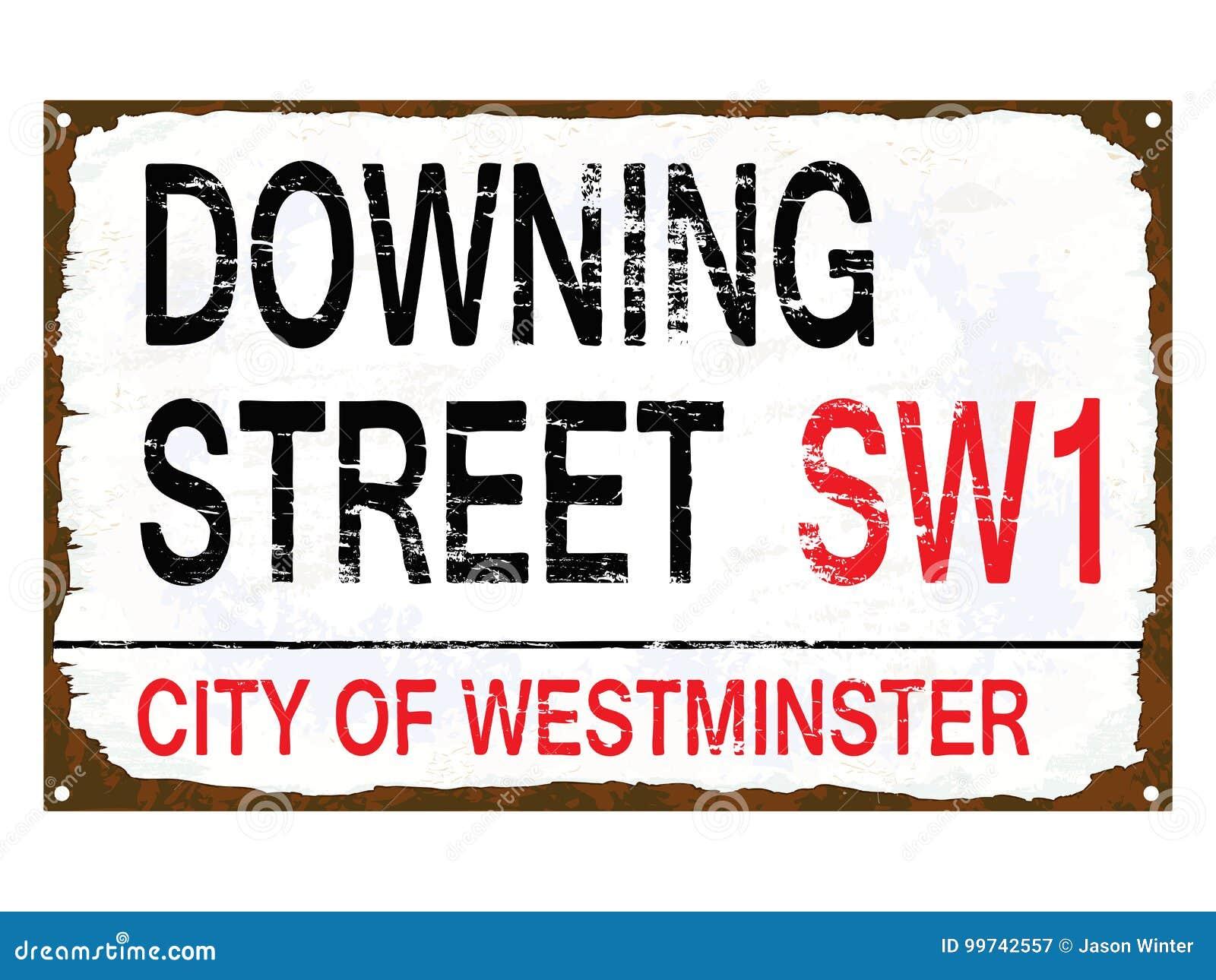 Muestra del esmalte del Downing Street