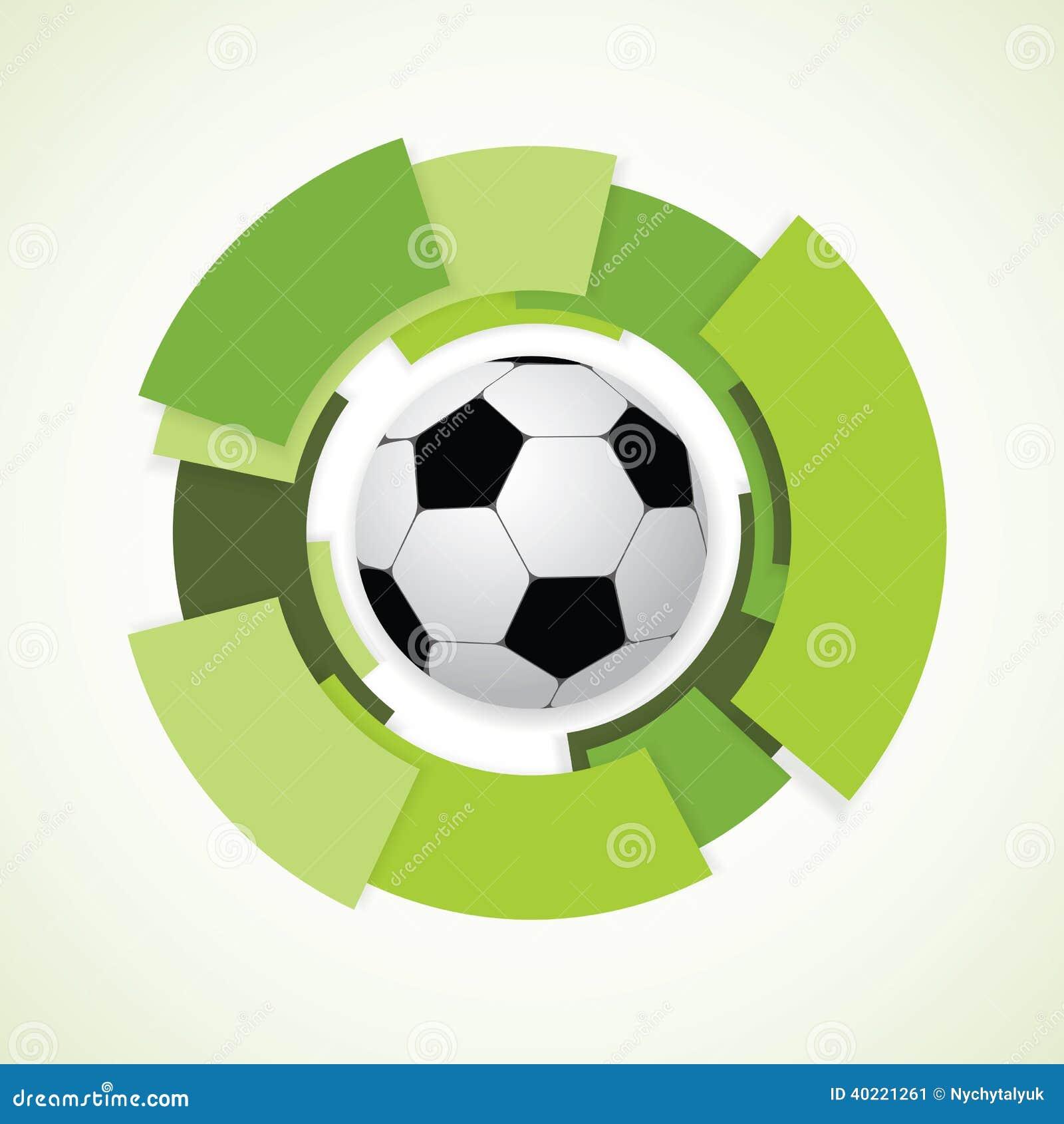 Muestra del fútbol. Balón de fútbol.