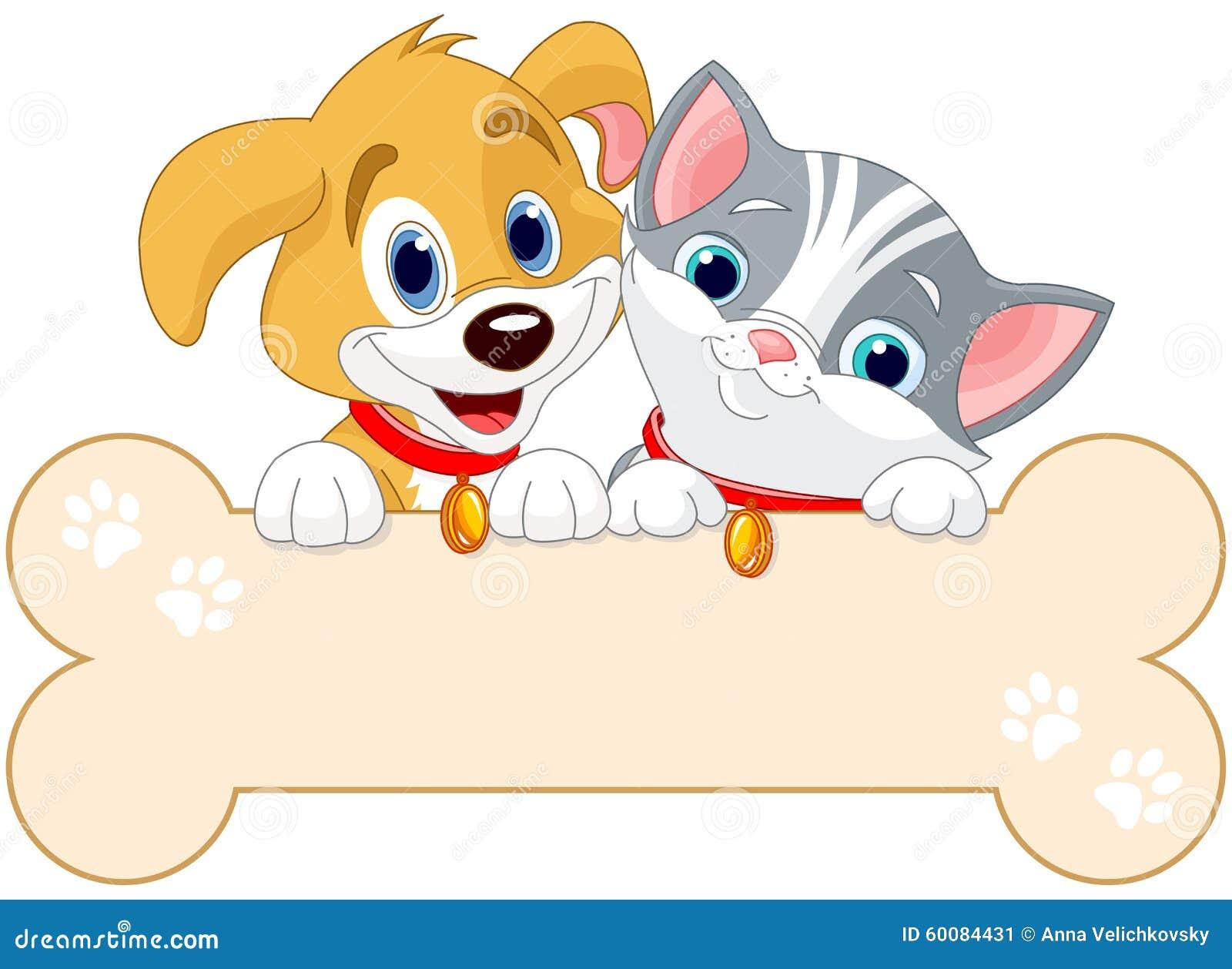 Muestra del gato y del perro