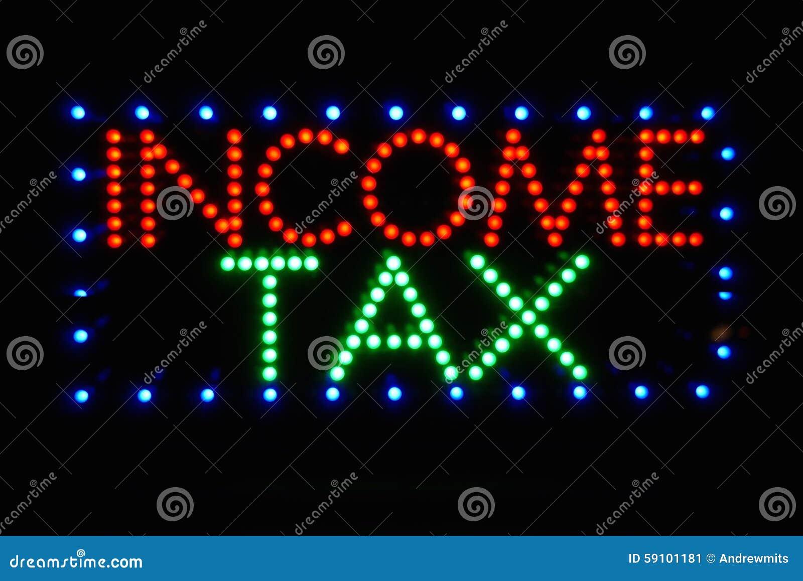 Muestra del impuesto sobre la renta