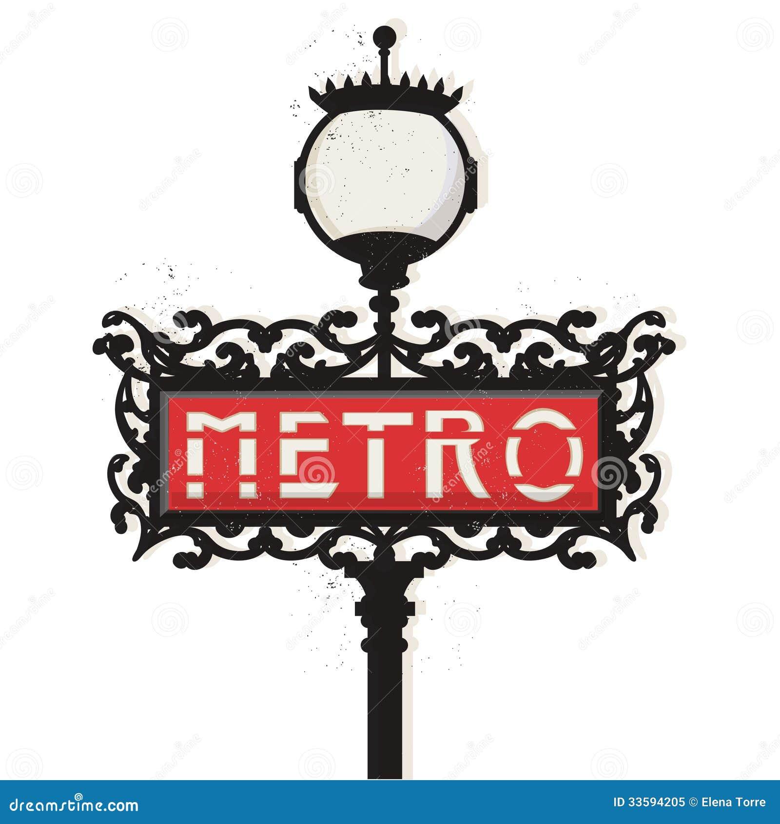 Muestra del metro de París