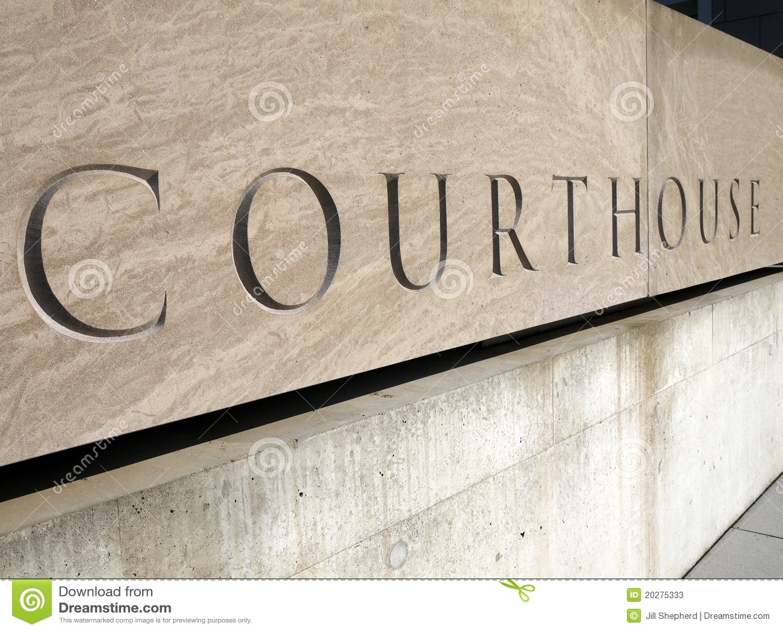Muestra del palacio de justicia