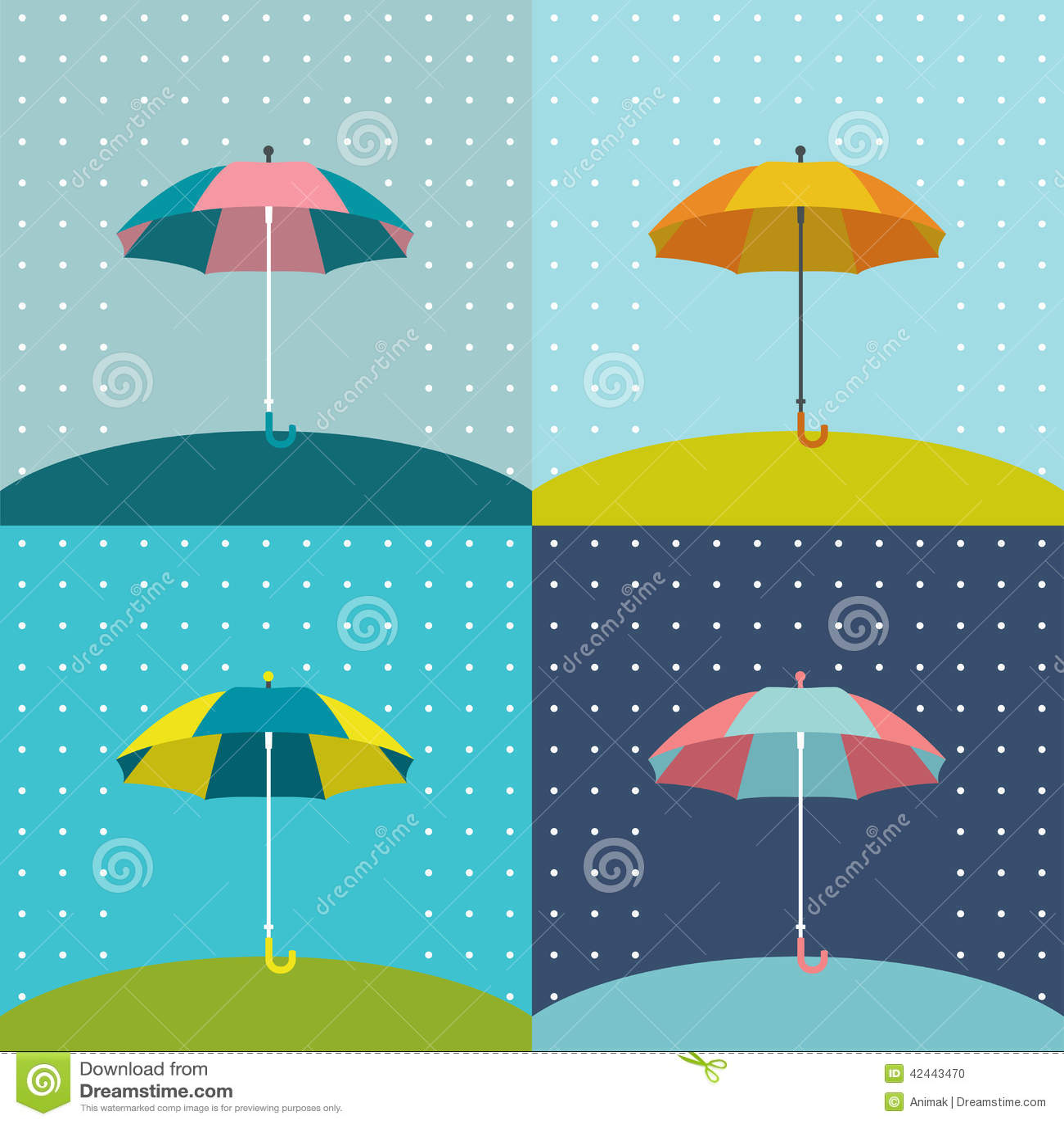 Muestra del paraguas
