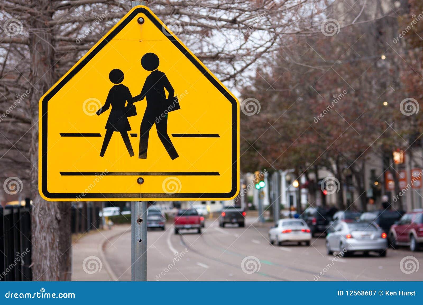 Muestra del paso de peatones de la escuela
