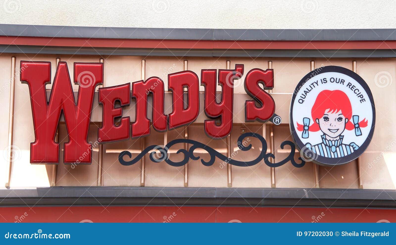 Muestra del restaurante de los alimentos de preparación rápida del ` s de Wendy