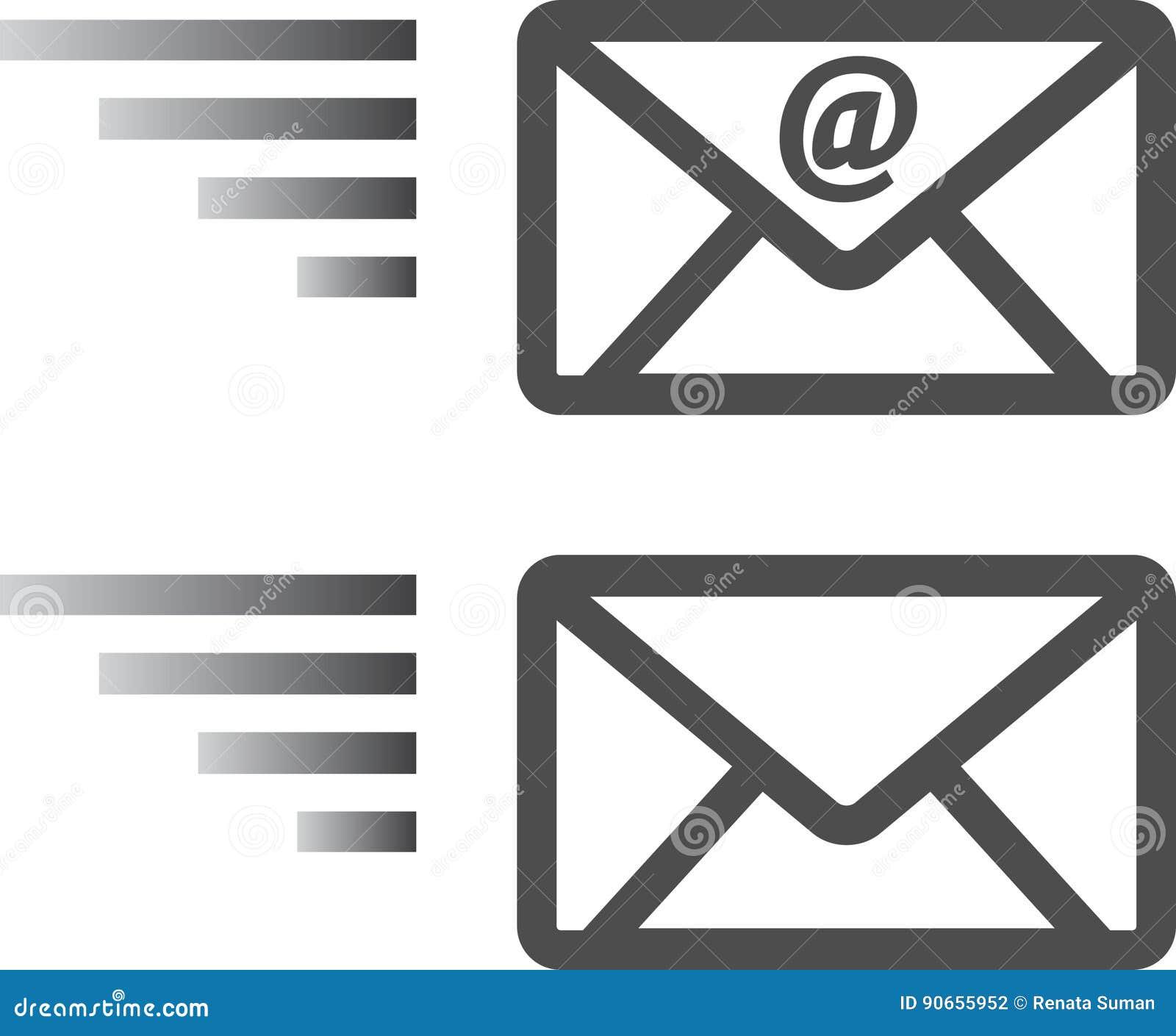 Muestra del sobre del correo electrónico