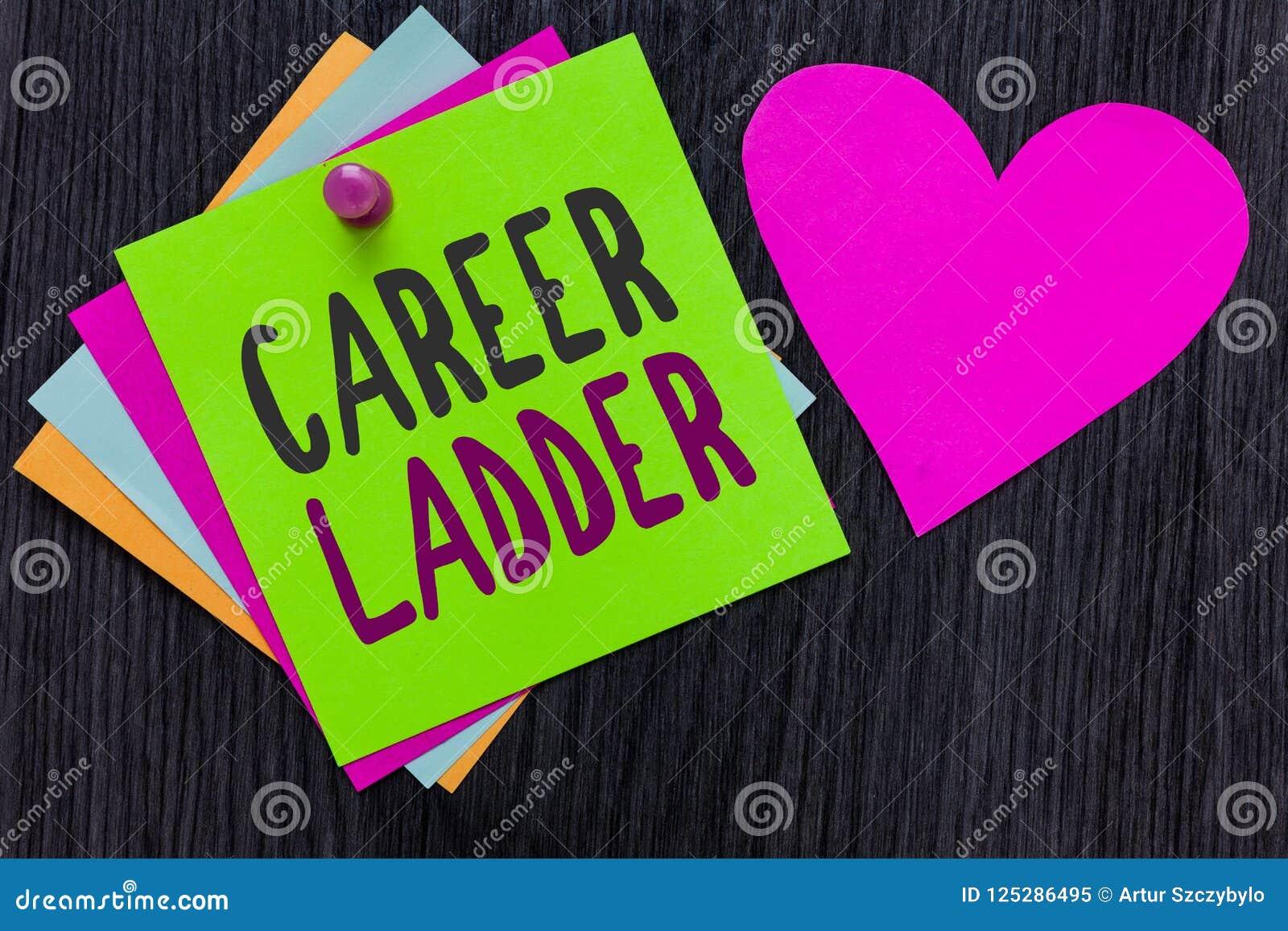 Muestra del texto que muestra la escalera de la carrera El cumplidor conceptual de la movilidad de Job Promotion Professional Pro