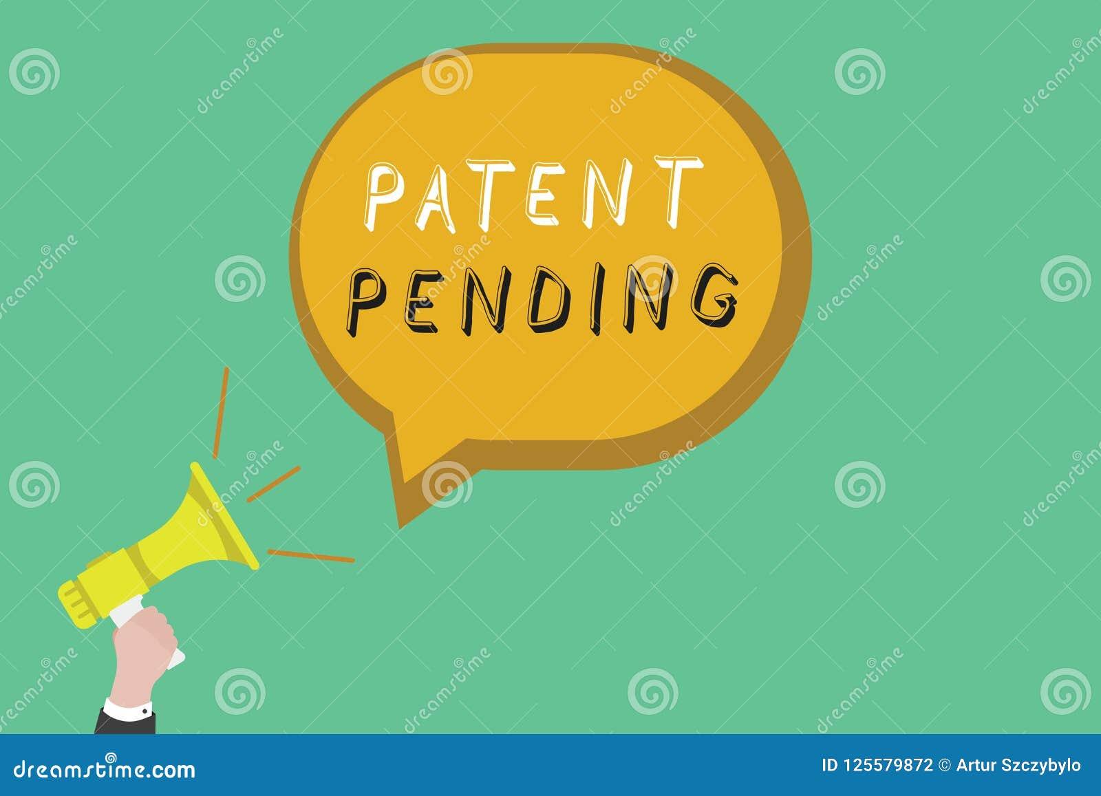 Muestra del texto que muestra la patente pendiente Petición conceptual de la foto archivada ya pero no todavía concedida la prose