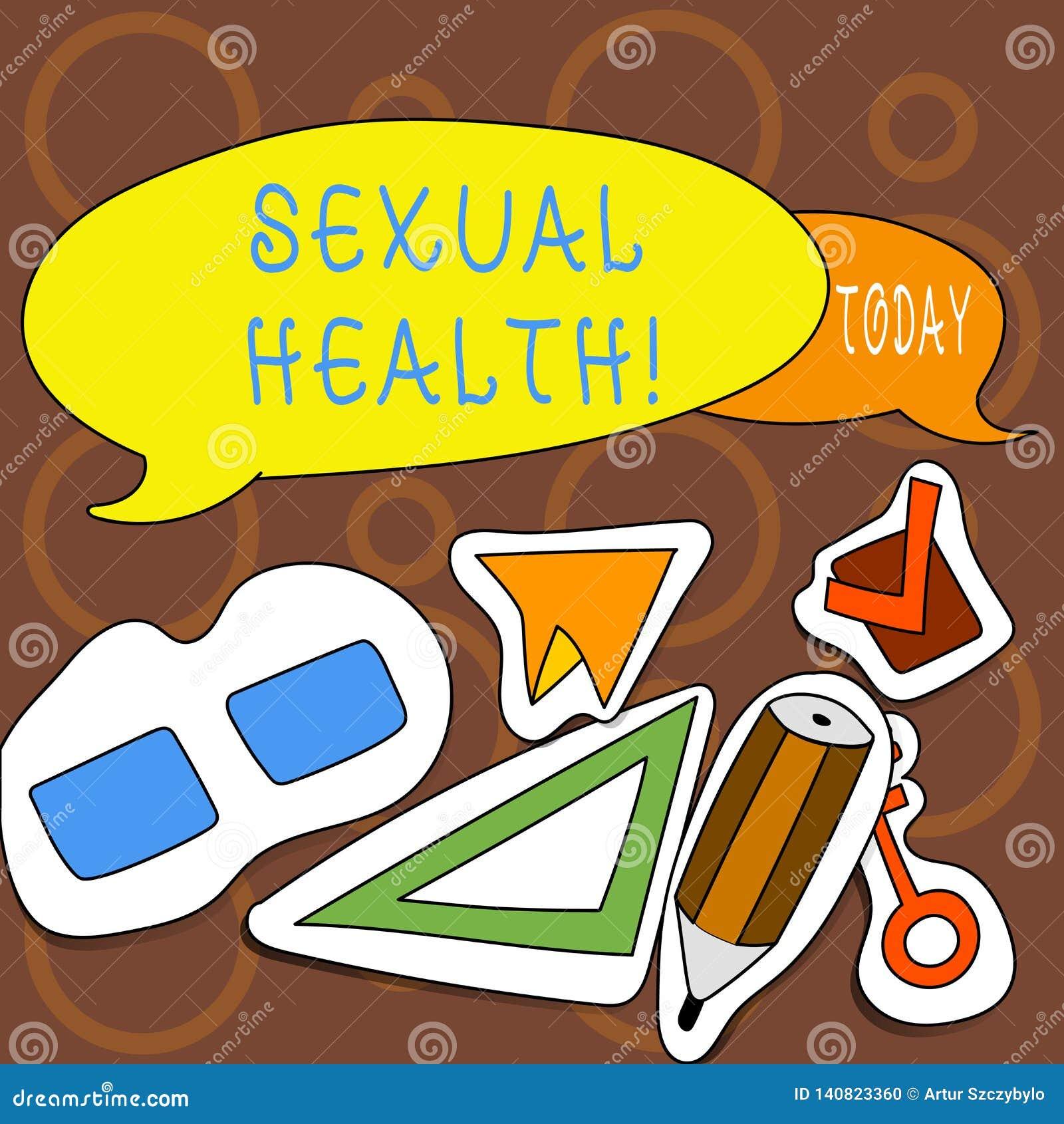 Muestra del texto que muestra salud sexual Cuidado sano del sexo de los hábitos de la foto del STD de la prevención de la protecc