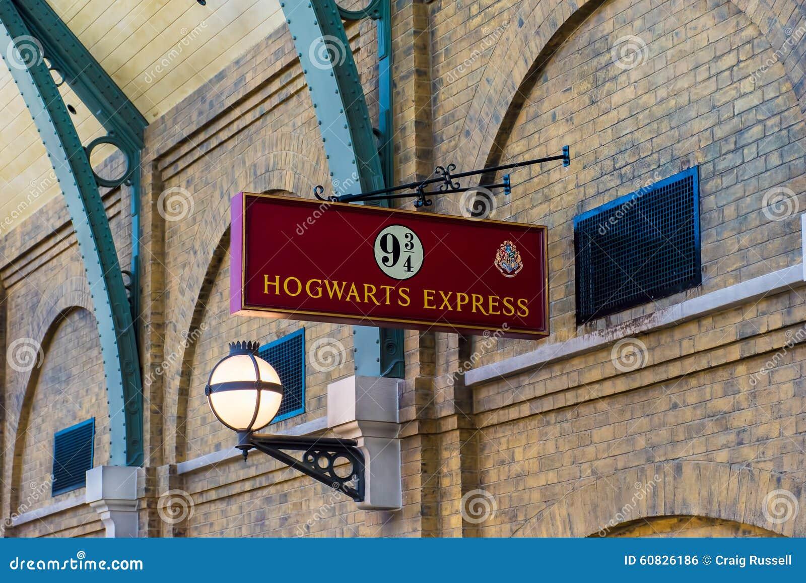 Muestra expresa de Hogwarts de los estudios universales