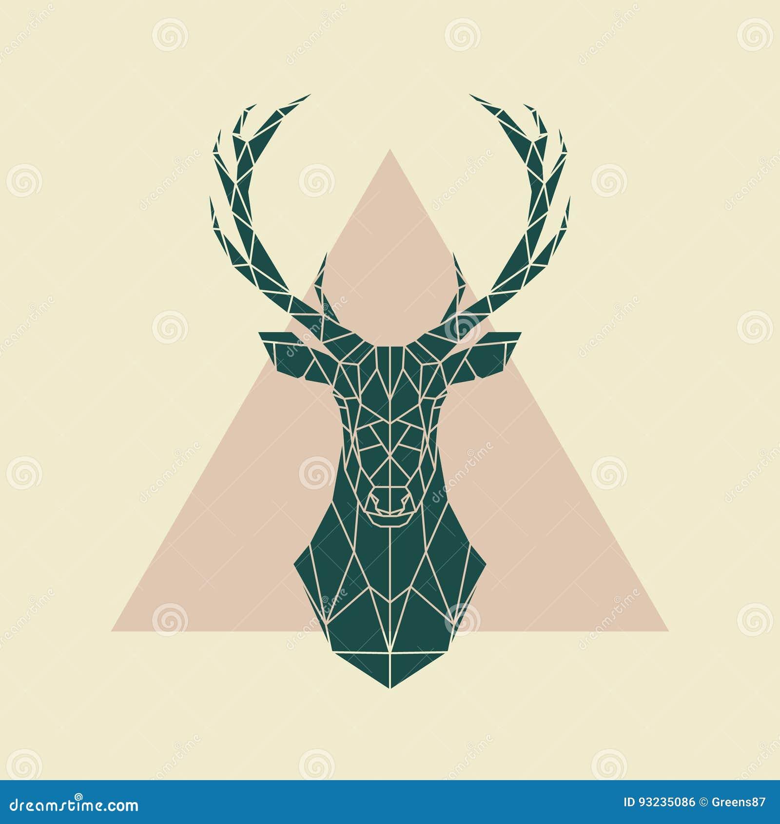 Muestra geométrica verde de los ciervos