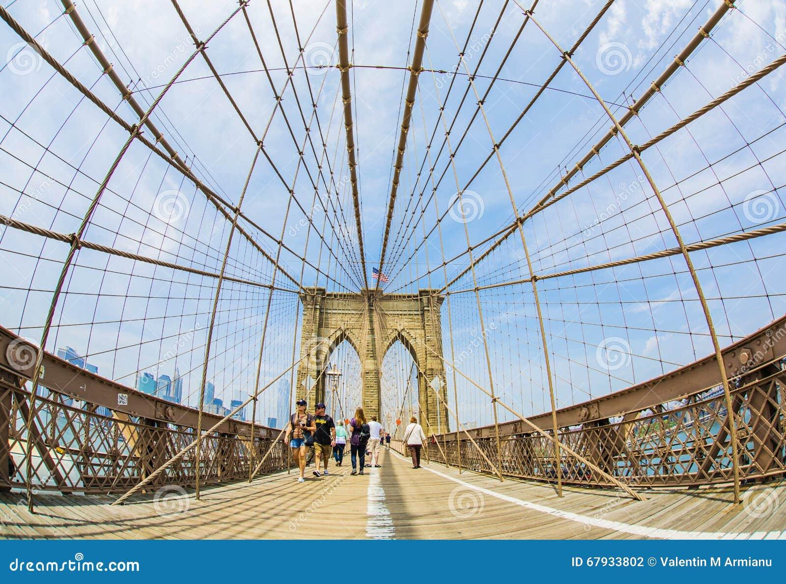 Muestra, ladrillos, cerca del puente de Brooklyn