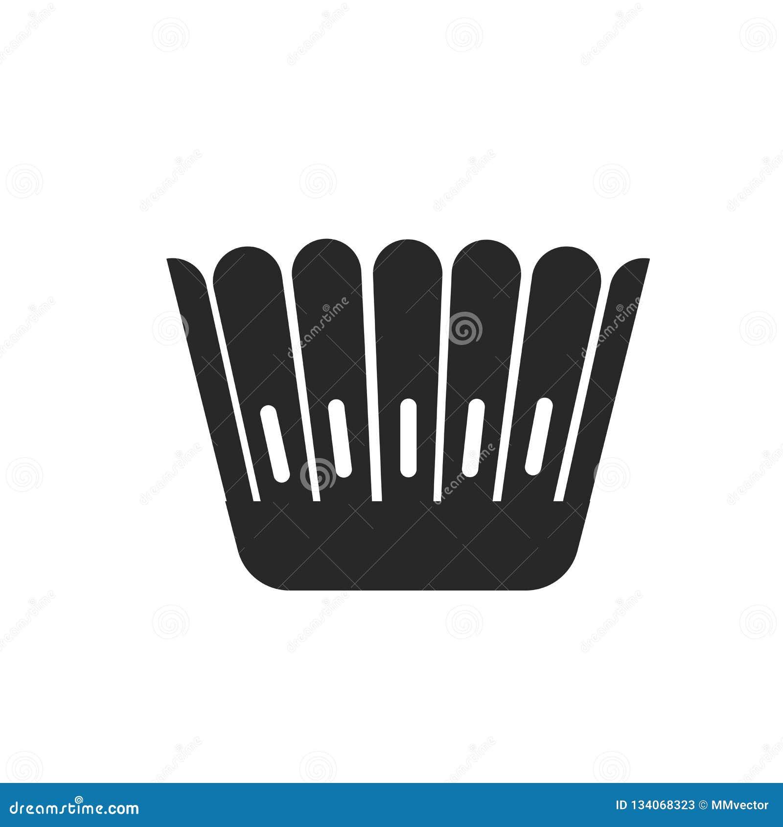 Muestra moldeada y símbolo del vector del icono aislados en el fondo blanco, concepto moldeado del logotipo