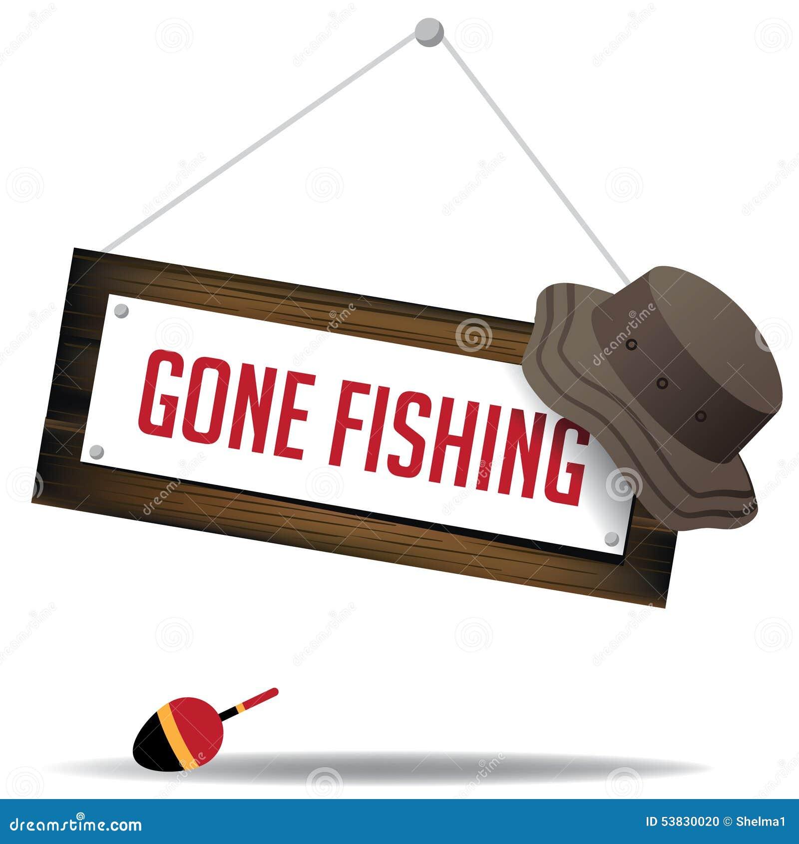 Muestra pesquera ida con vector del sombrero y del flotador EPS 10