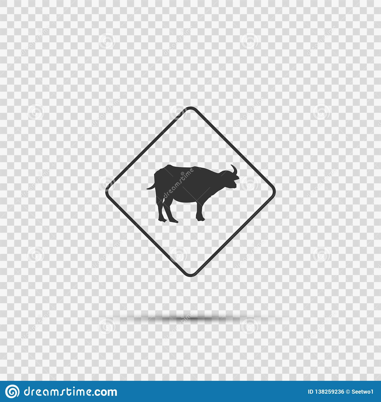 Muestra que cruza animal del símbolo en fondo transparente