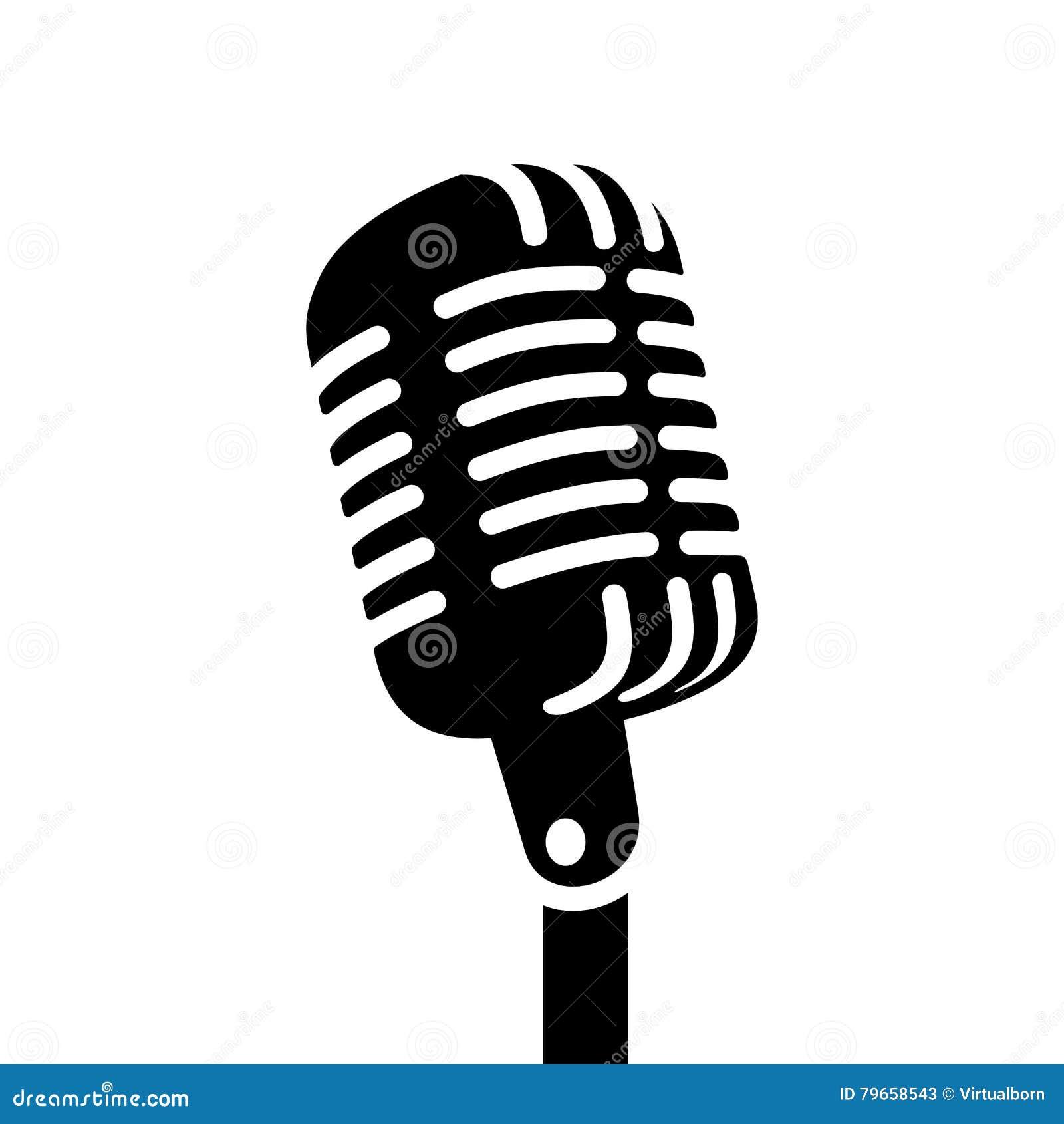 Muestra retra del vector del micrófono